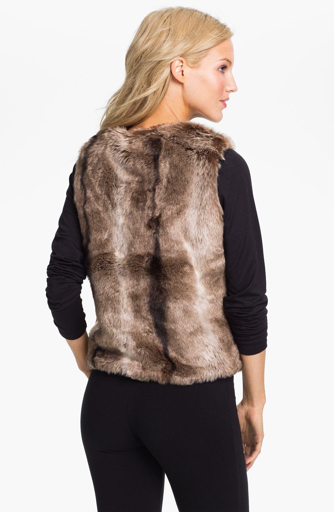 Alternate Image 2  - PJ Luxe Faux Fur Vest