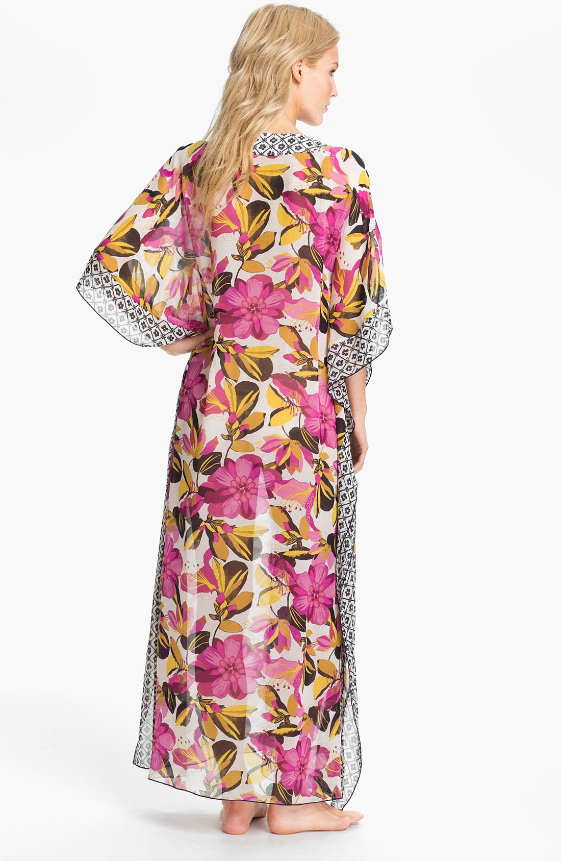 Alternate Image 2  - Tory Burch 'Catarina' Silk Caftan Cover-Up