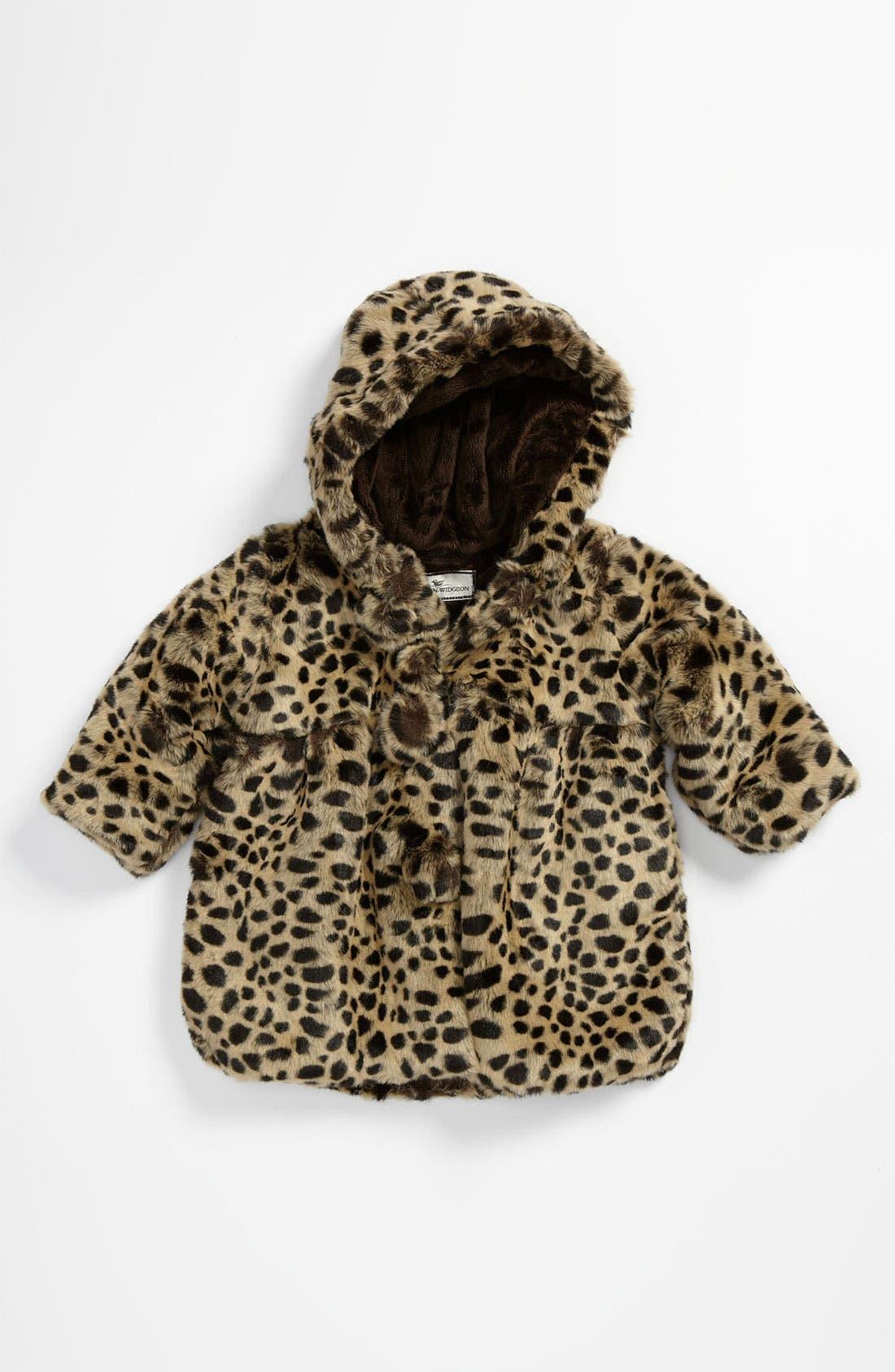 Alternate Image 1 Selected - Widgeon Faux Fur Pompom Coat (Infant)