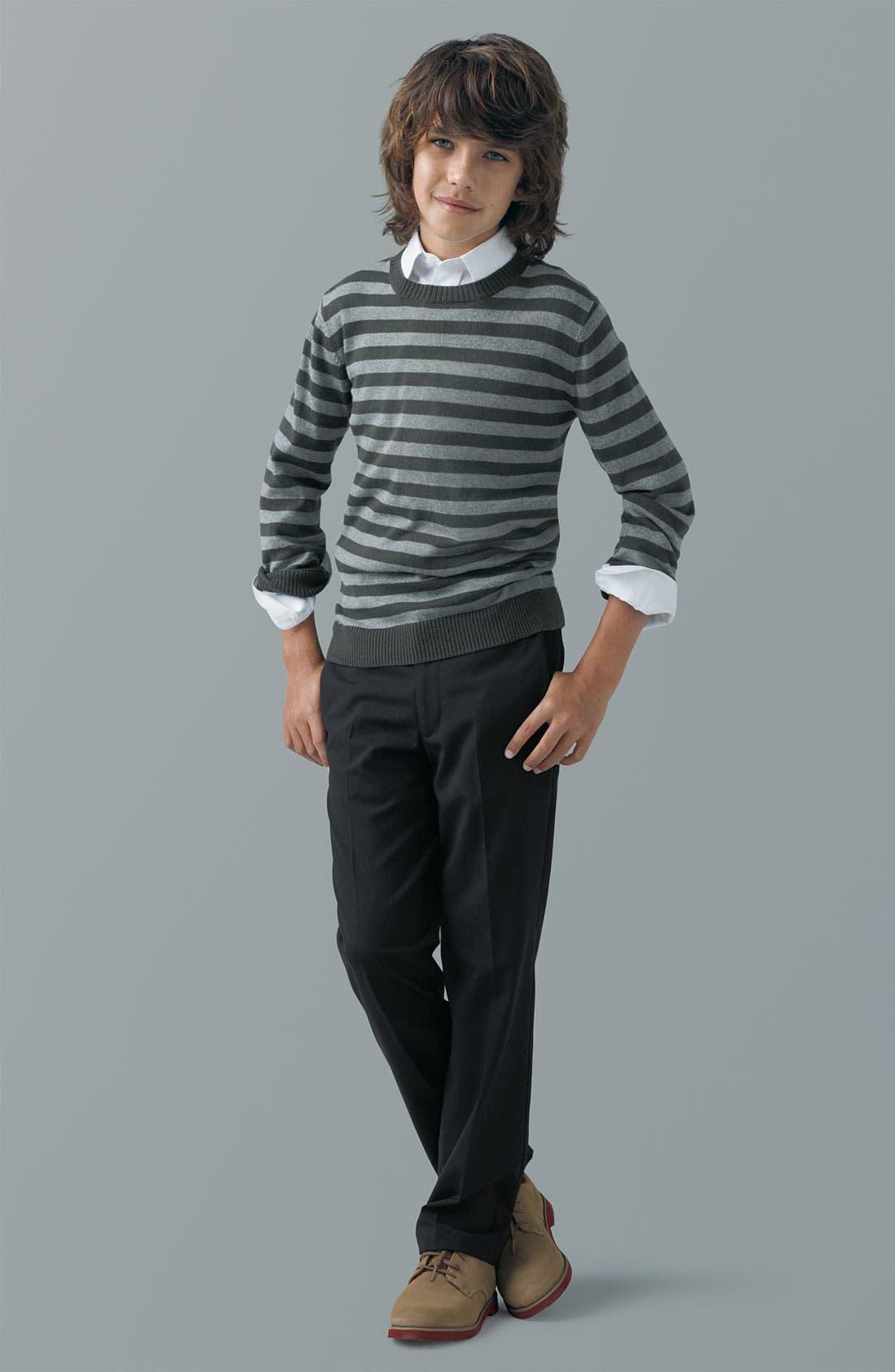 Main Image - Tucker + Tate Sweater, Nordstrom Shirt & Joseph Abboud Pants (Little Boys & Big Boys)