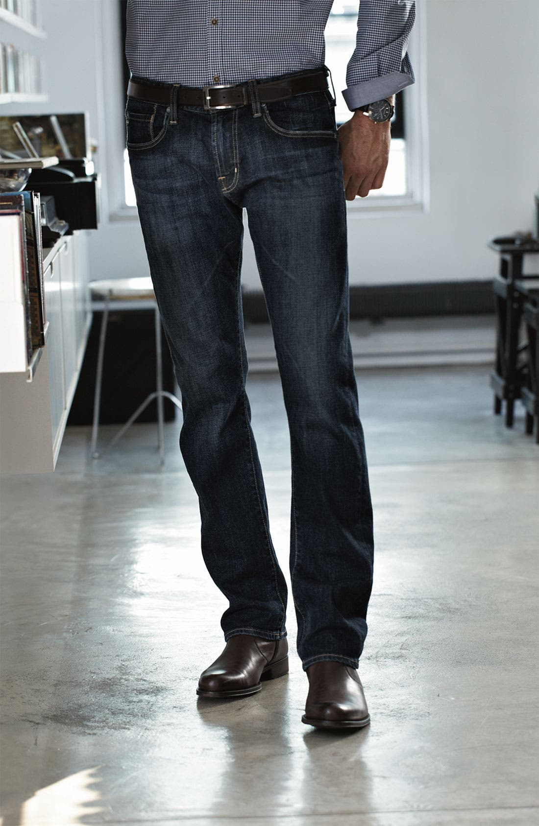 Alternate Image 5  - AG Jeans 'Geffen Easy Slim' Straight Leg Jeans (Roast)