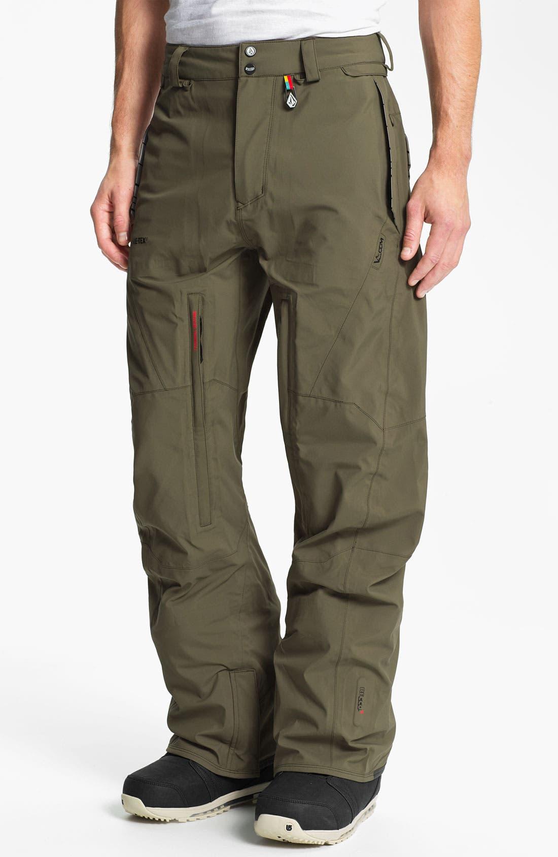 Main Image - Volcom 'Baldface Guide' Gore-Tex® Snowboard Pants