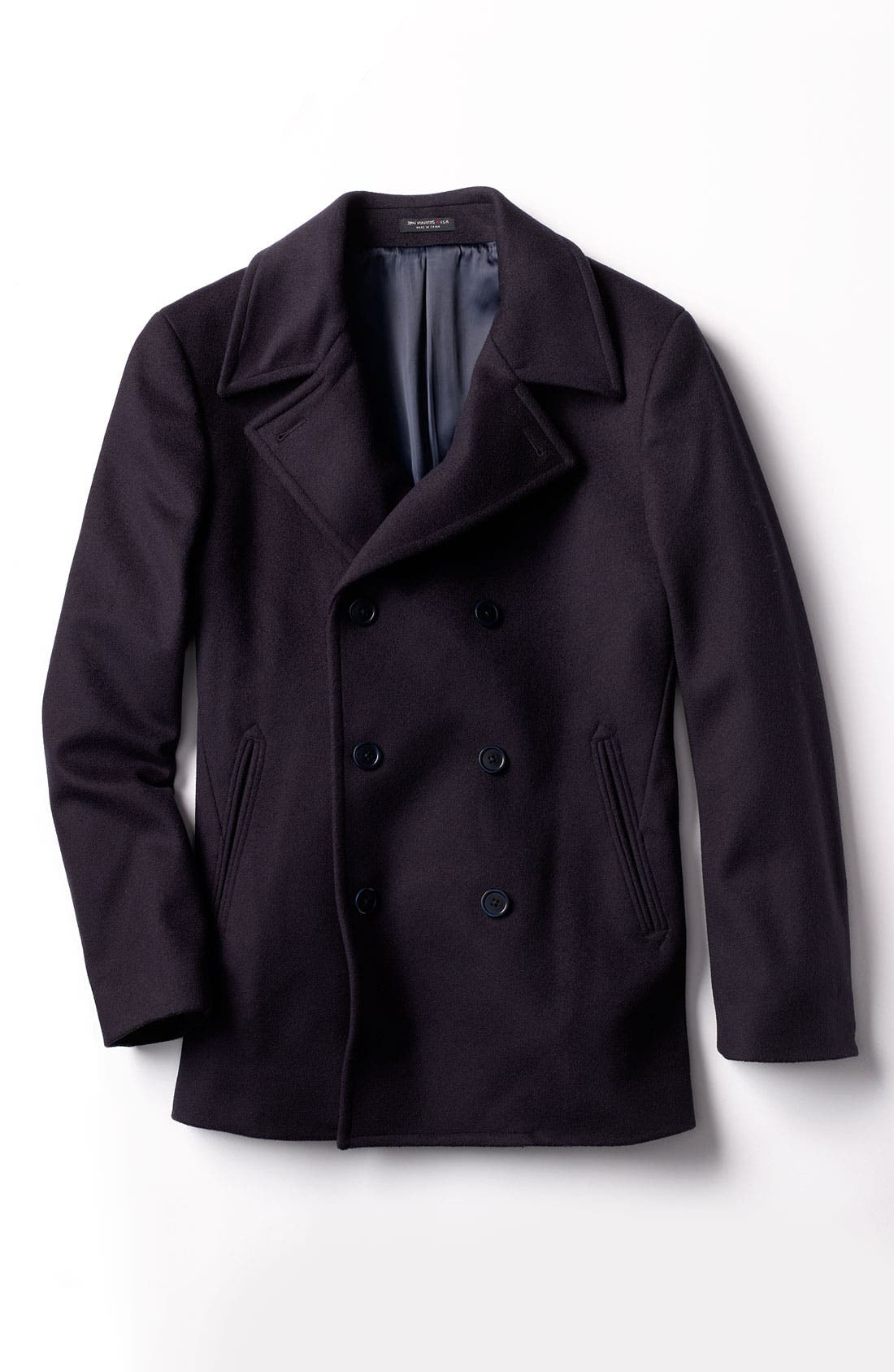 Alternate Image 4  - John Varvatos Star USA Double Breasted Peacoat