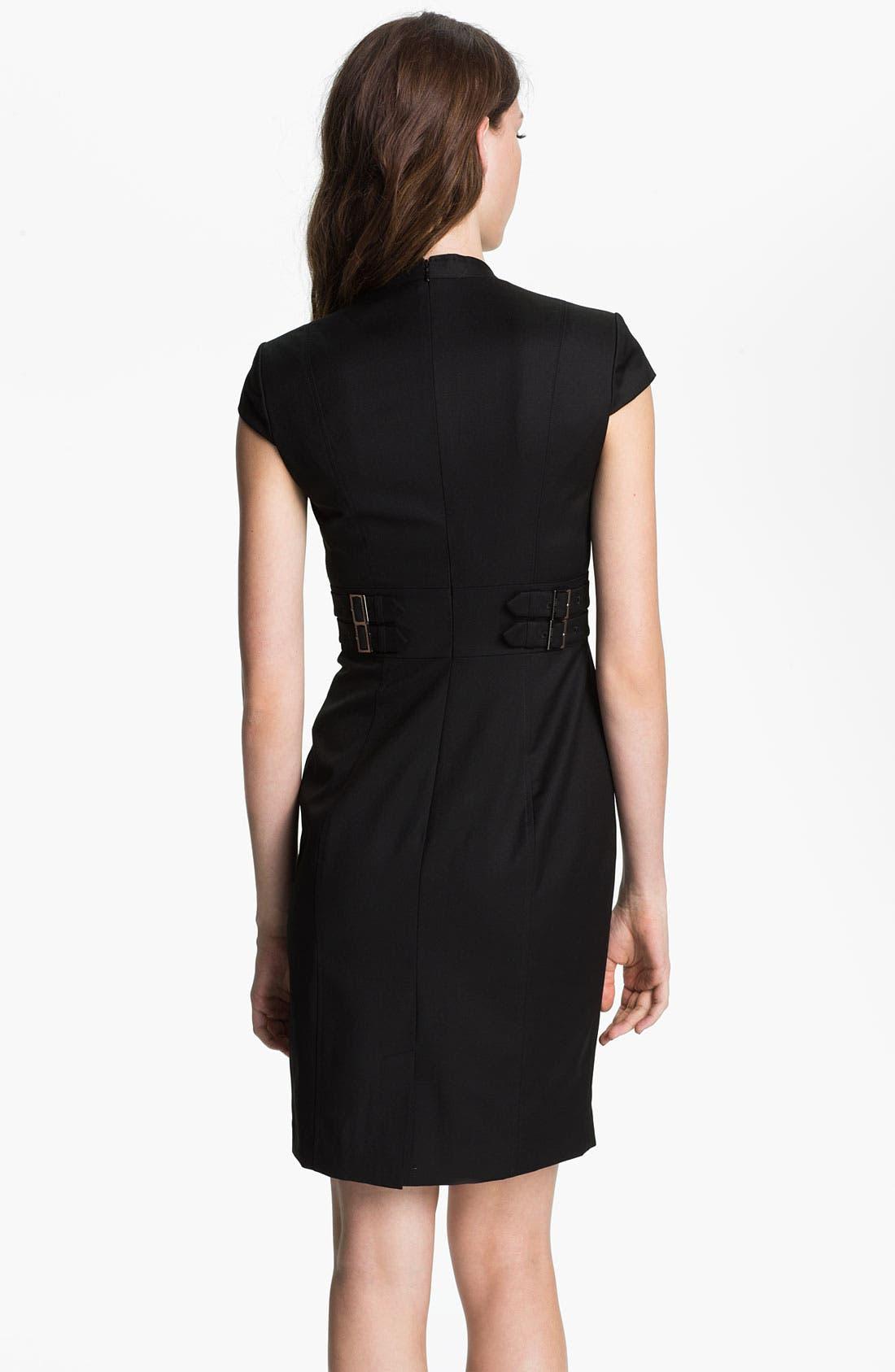 Alternate Image 2  - Ted Baker London 'Agned' Wool Blend Sheath Dress