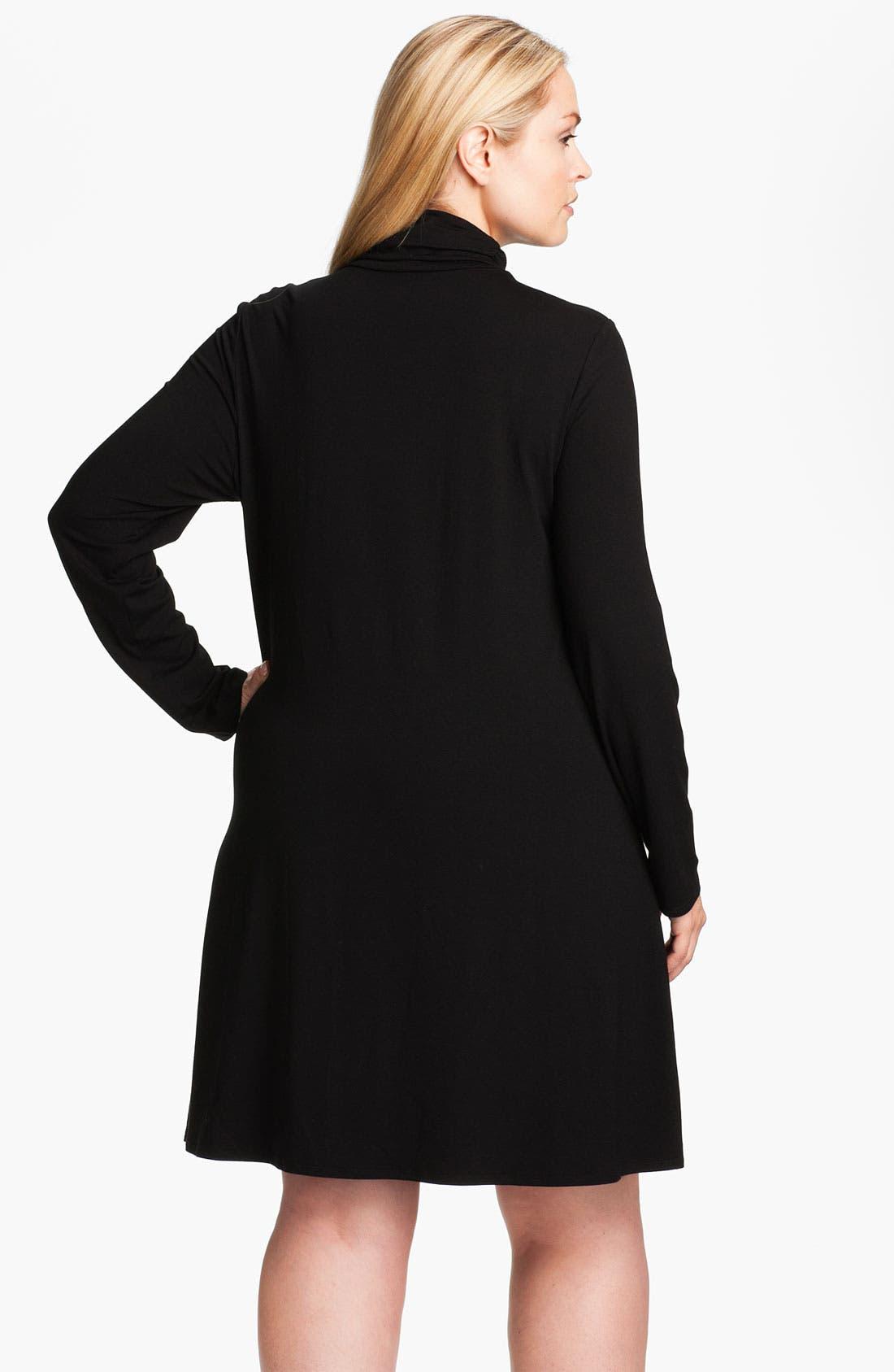 Alternate Image 2  - Eileen Fisher Scrunch Neck Dress (Plus)