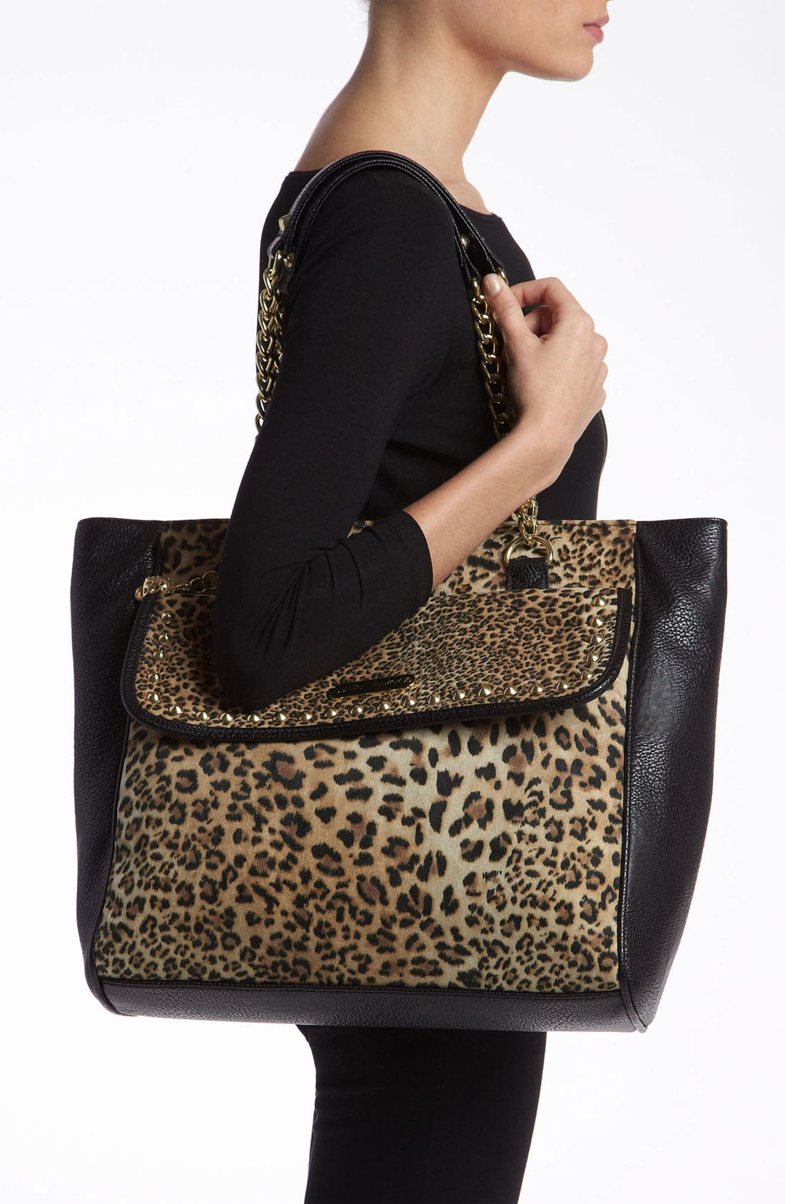 Alternate Image 2  - Betsey Johnson Mixed Cheetah Print Tote