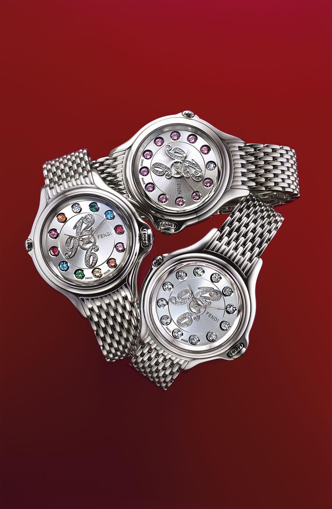 Alternate Image 5  - Fendi 'Crazy Carats' Diamond Dial Bracelet Watch, 38mm