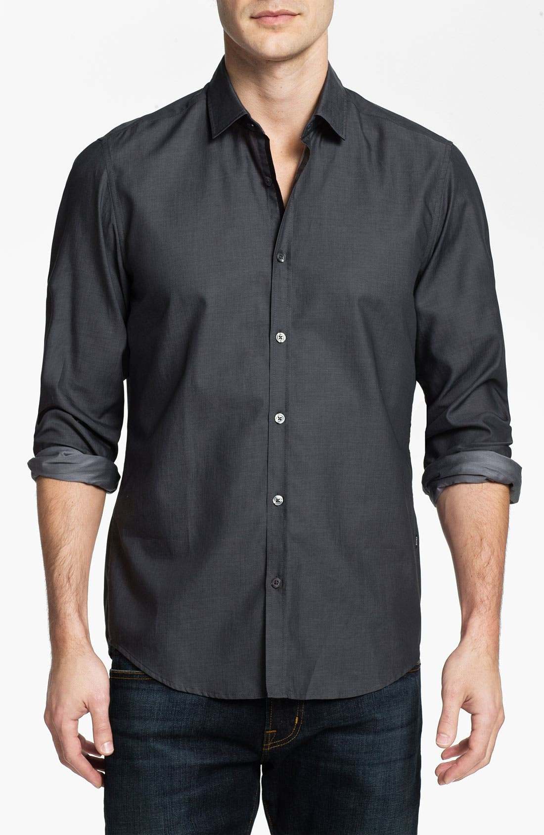 Alternate Image 1 Selected - BOSS Black 'Lorenzo' Regular Fit Sport Shirt
