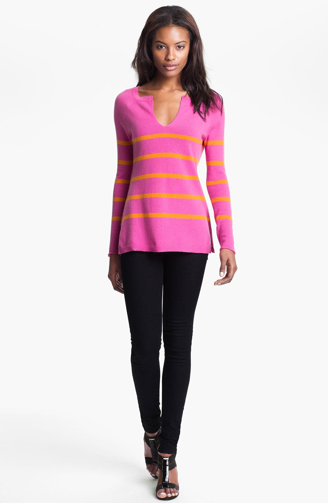 Alternate Image 1 Selected - autumn cashmere Sailor Stripe Sweater
