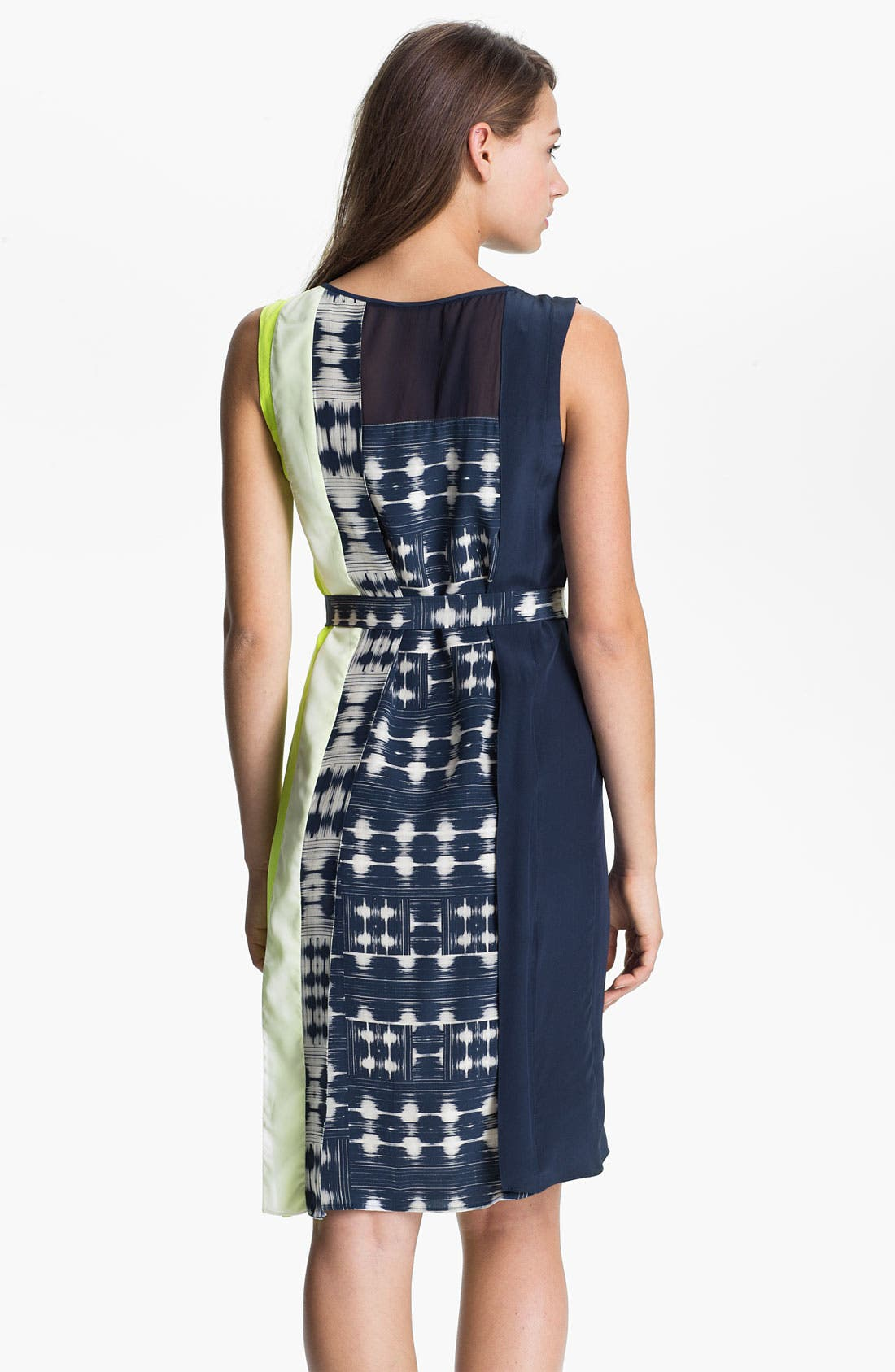 Alternate Image 2  - BCBGMAXAZRIA Sleeveless Print Silk Dress