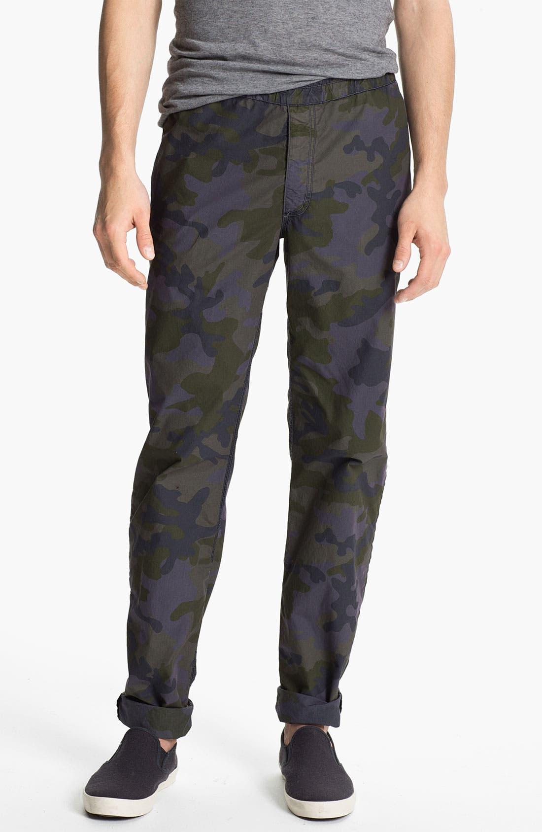 Alternate Image 1 Selected - U Clothing 'Brody' Camo Tapered Leg Pants