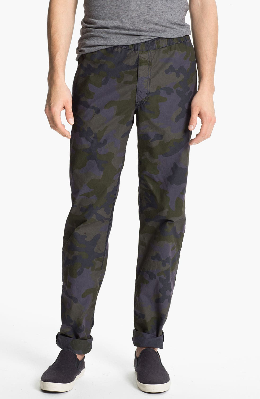 Main Image - U Clothing 'Brody' Camo Tapered Leg Pants