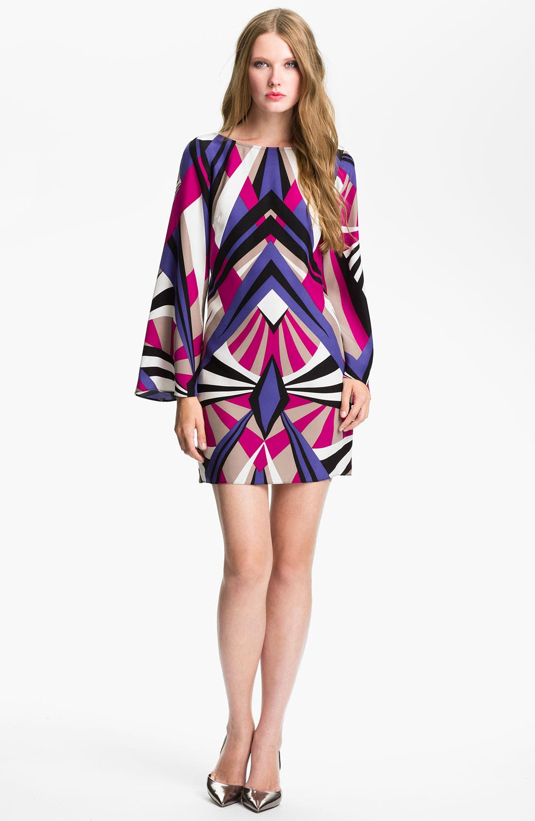 Alternate Image 1 Selected - ALICE & TRIXIE 'Veronica' Print Silk Shift Dress