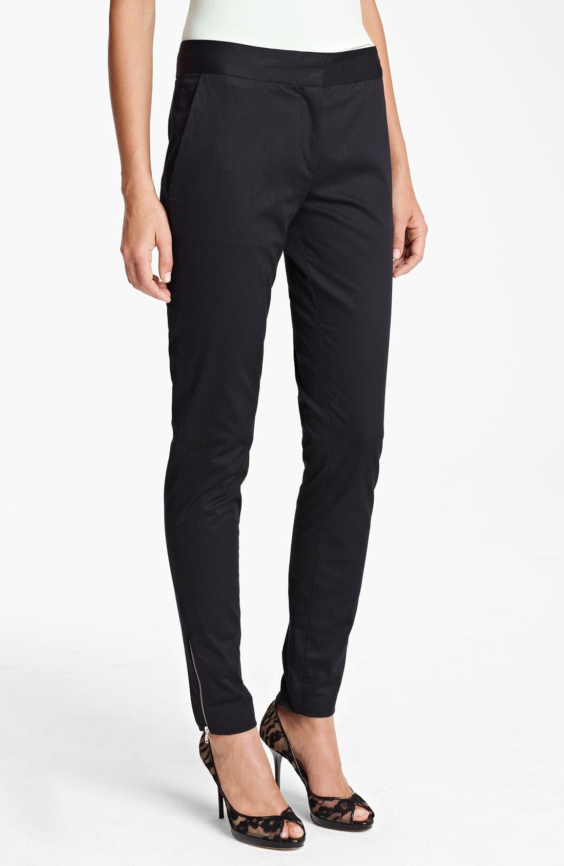 Alternate Image 1 Selected - Piazza Sempione Skinny Ankle Zip Pants