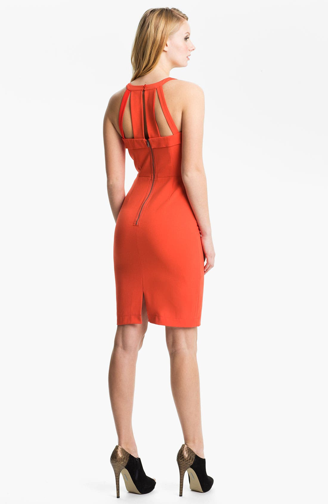 Alternate Image 2  - BCBGMAXAZRIA Notched Neck Cutout Sheath Dress