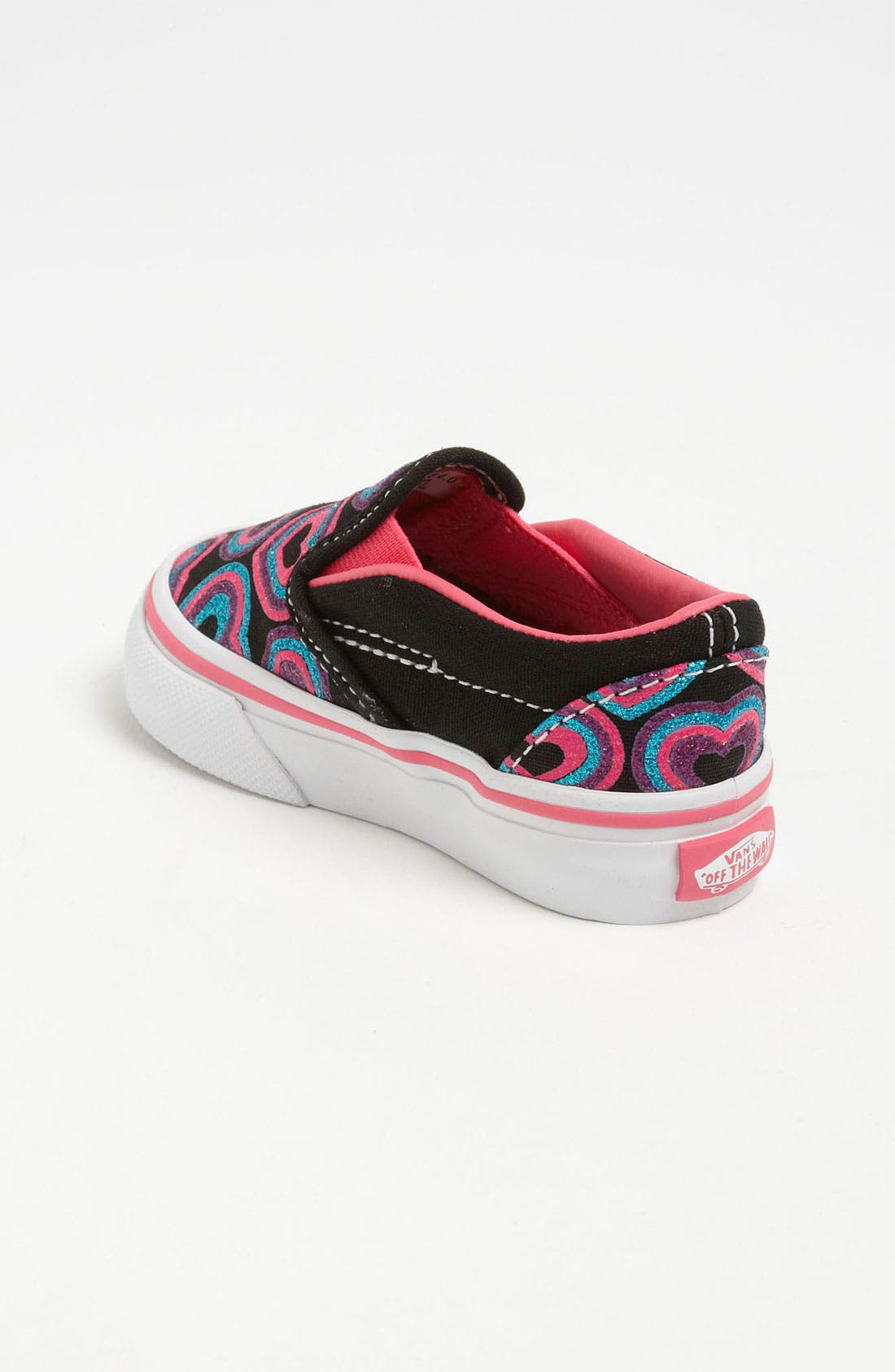 Alternate Image 2  - Vans 'Classic - Glitter Hearts' Slip-On (Baby, Walker & Toddler)