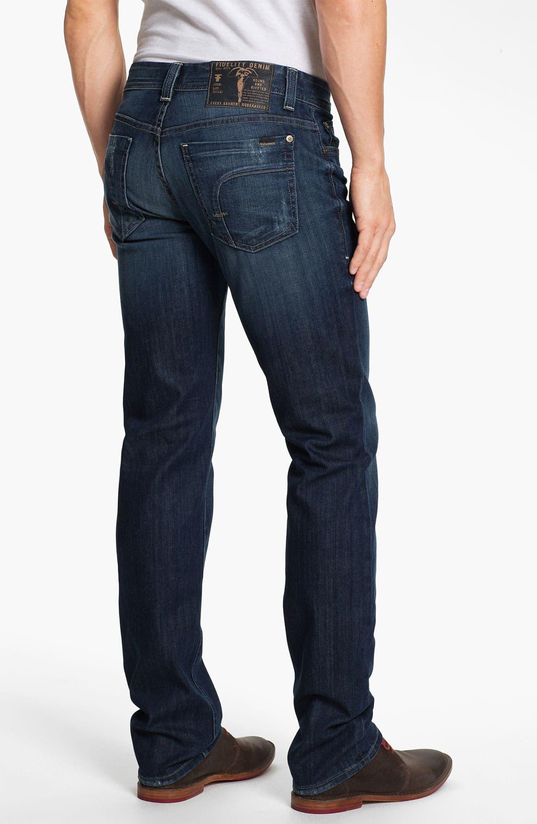 Alternate Image 2  - Fidelity Denim 'Slim Jim' Slim Straight Leg Jeans (Exile Vintage)
