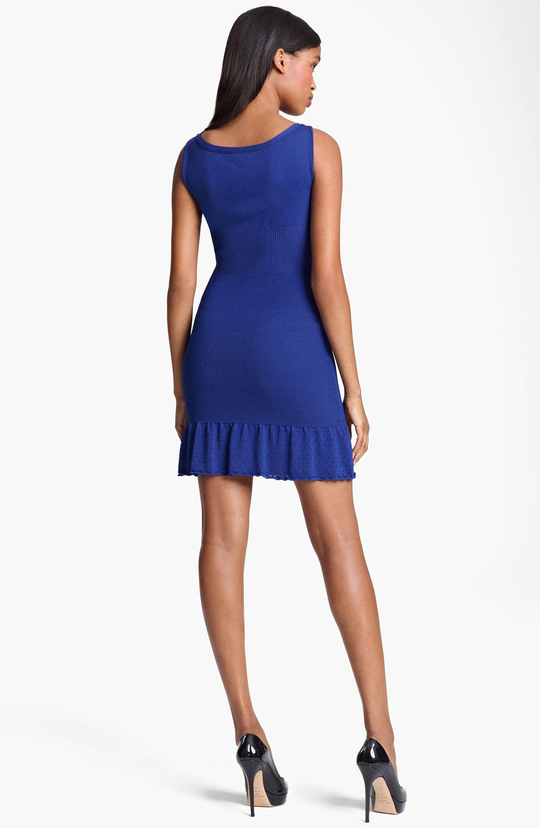 Alternate Image 2  - Moschino Cheap & Chic Flared Hem Knit Dress