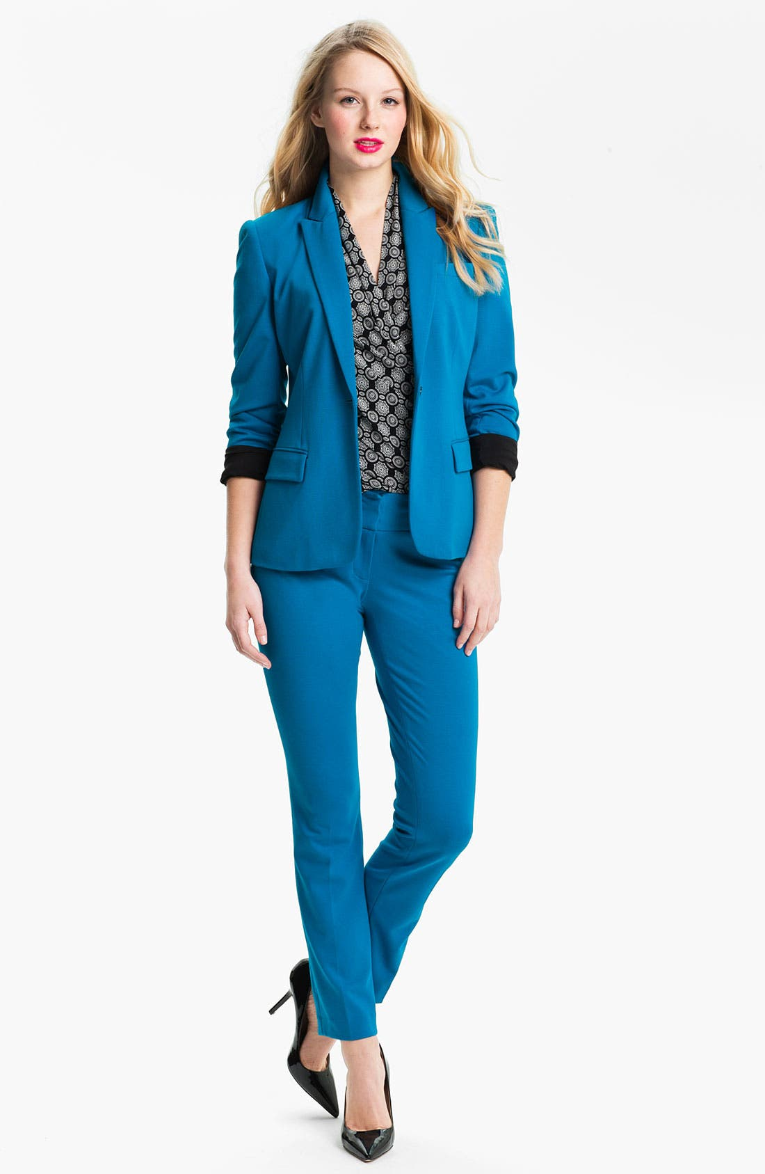 Alternate Image 4  - Vince Camuto One Button Blazer