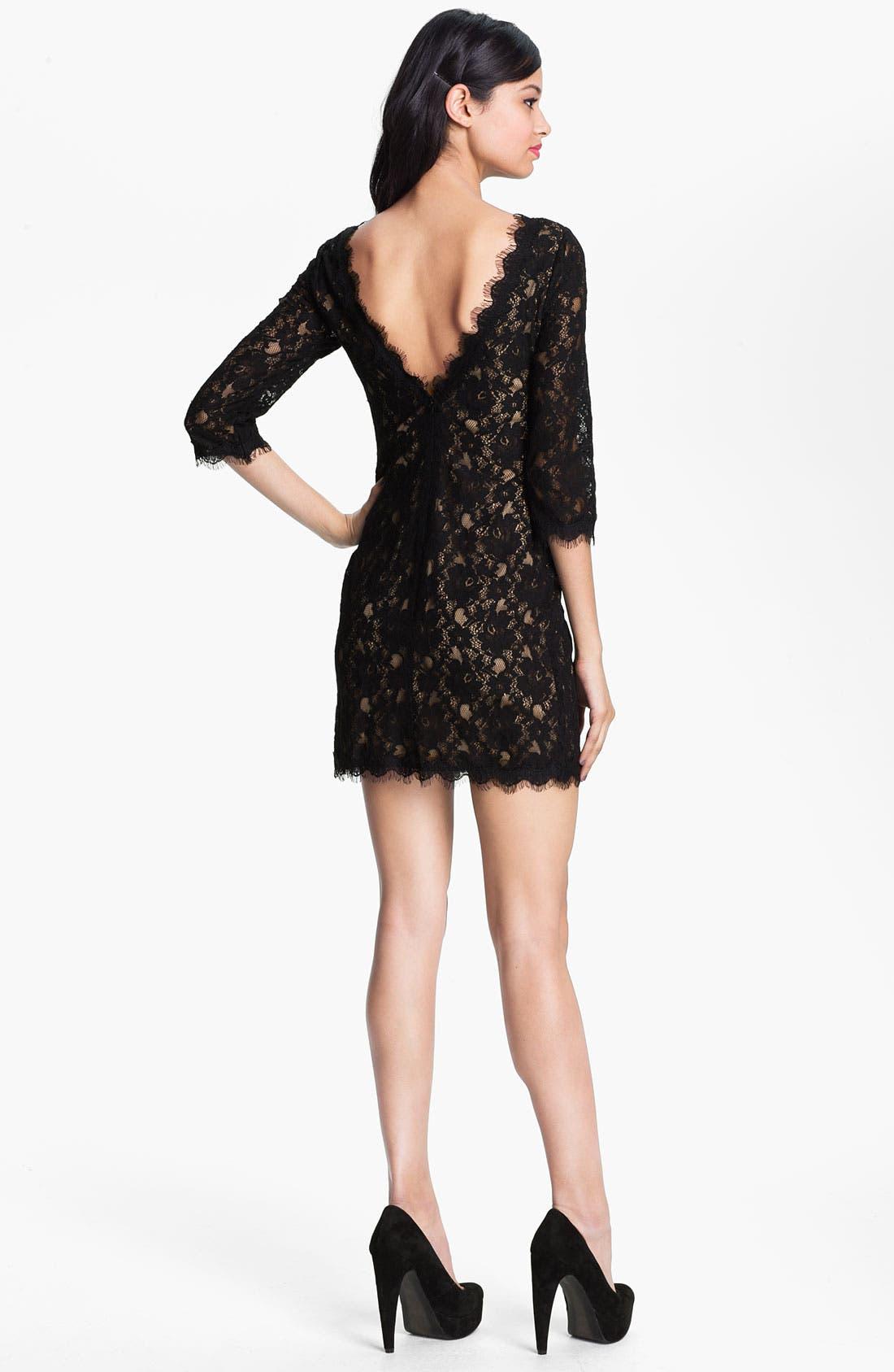 Alternate Image 2  - Lush Lace Shift Dress (Juniors)