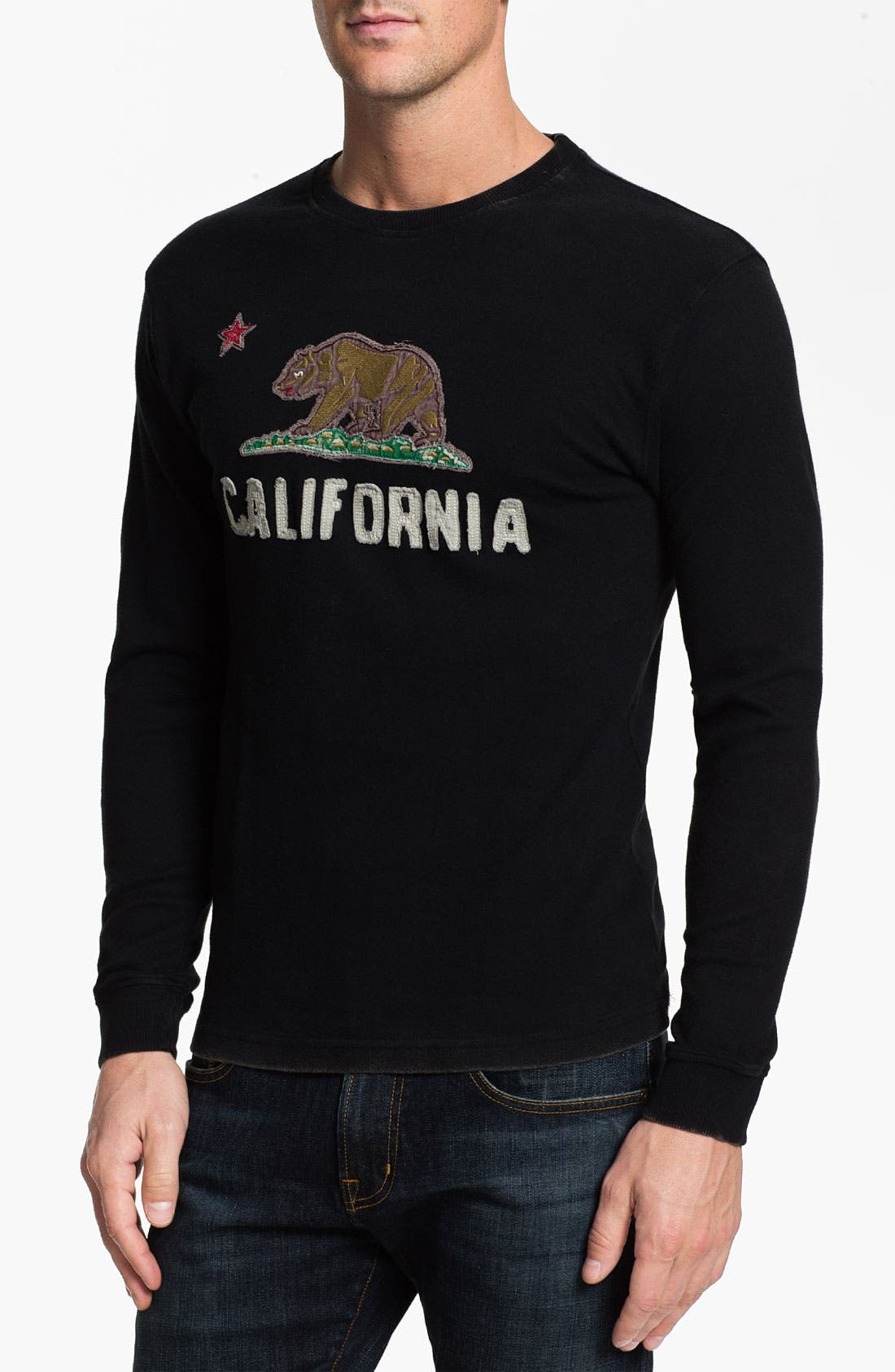 Alternate Image 1 Selected - Red Jacket 'California - Team City' Long Sleeve T-Shirt