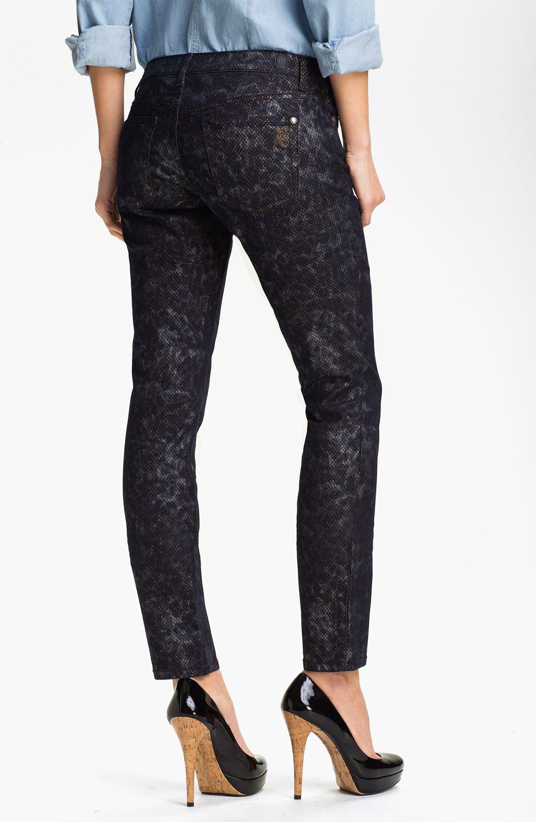 Alternate Image 2  - Jessica Simpson 'Forever' Snakeskin Print Skinny Jeans (Online Exclusive)