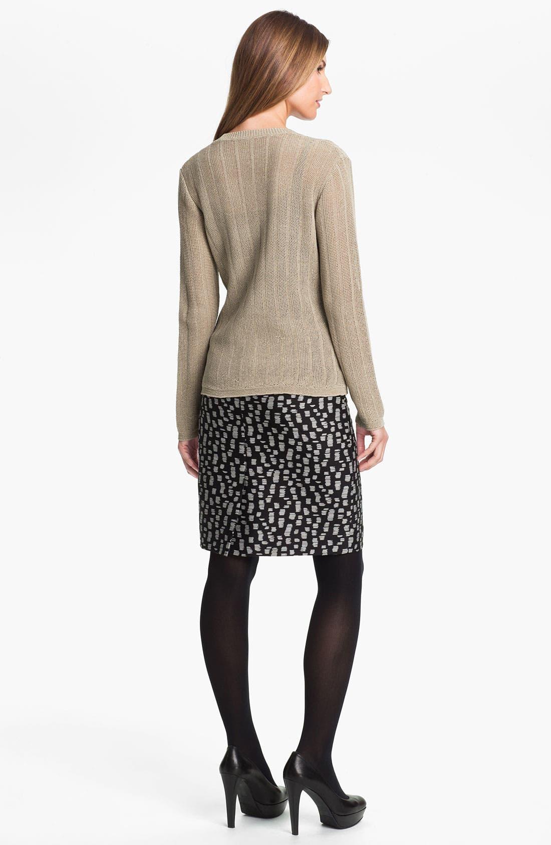 Alternate Image 5  - Classiques Entier® 'Campania' Jacquard Skirt