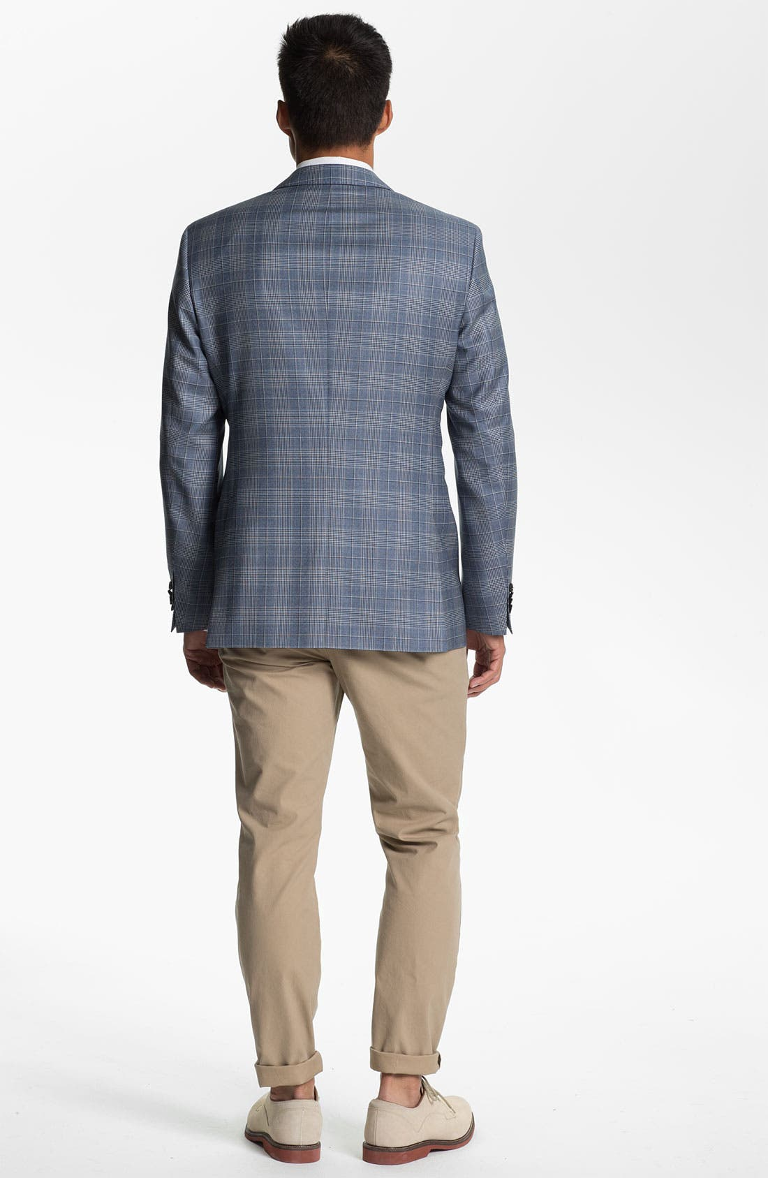 Alternate Image 5  - BOSS Black 'James' Trim Fit Plaid Sportcoat