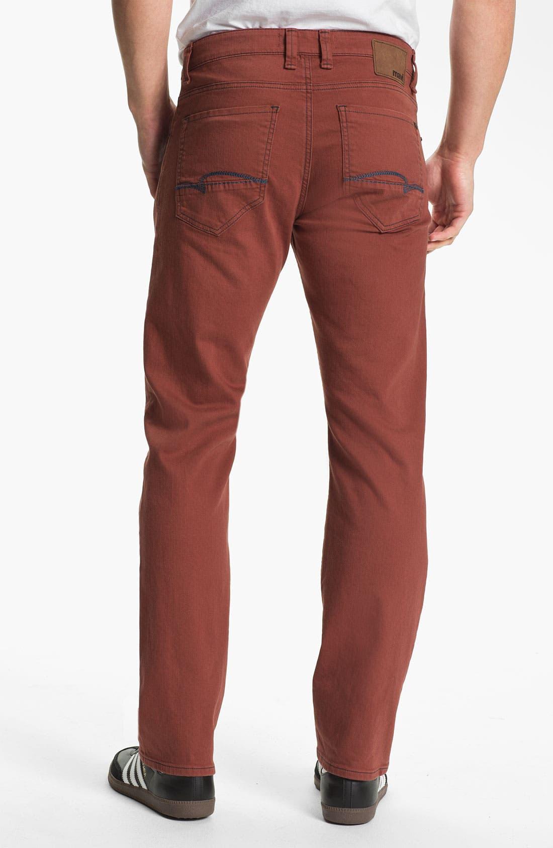 Alternate Image 1 Selected - Mavi Jeans Slim Straight Leg Jeans (Rust)