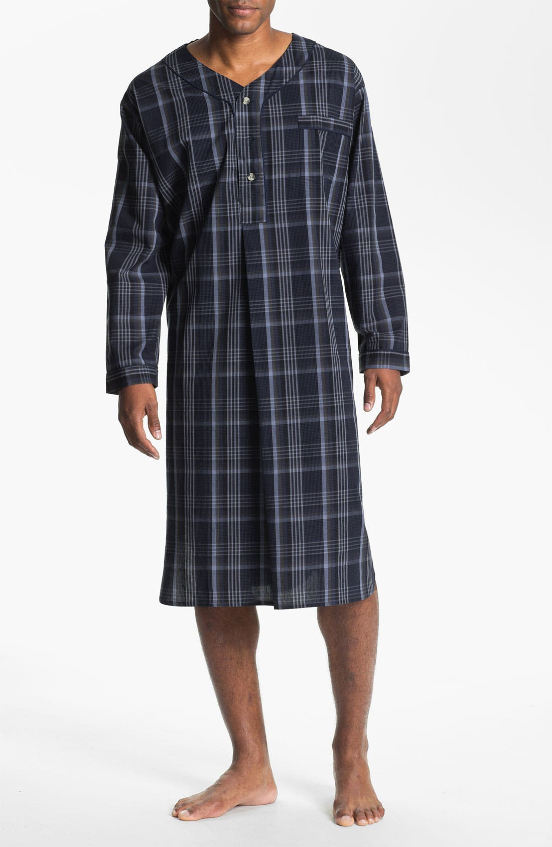 Alternate Image 1 Selected - Majestic International Plaid Nightshirt (Big & Tall)