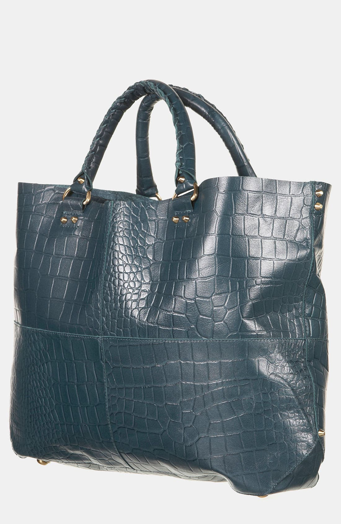 Alternate Image 1 Selected - Topshop 'Lady' Croc Embossed Tote