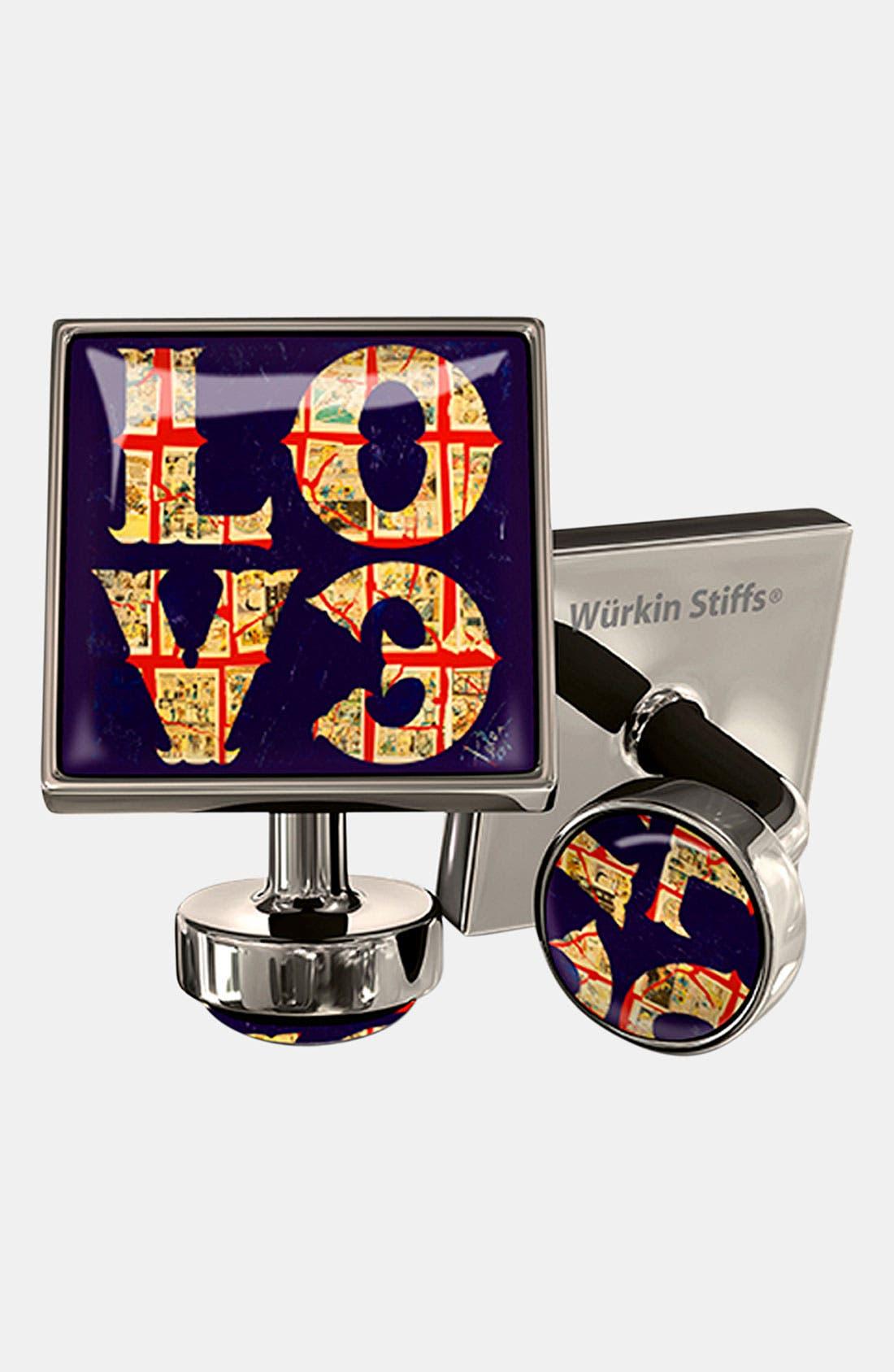 Main Image - Würkin Stiffs 'Love' Square Cuff Links