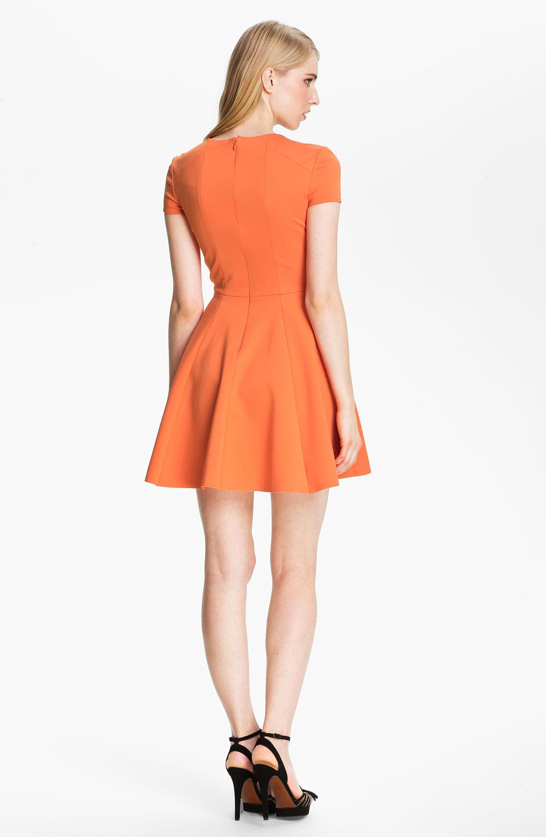 Alternate Image 2  - Halston Heritage Crisscross Neck Ponte Dress