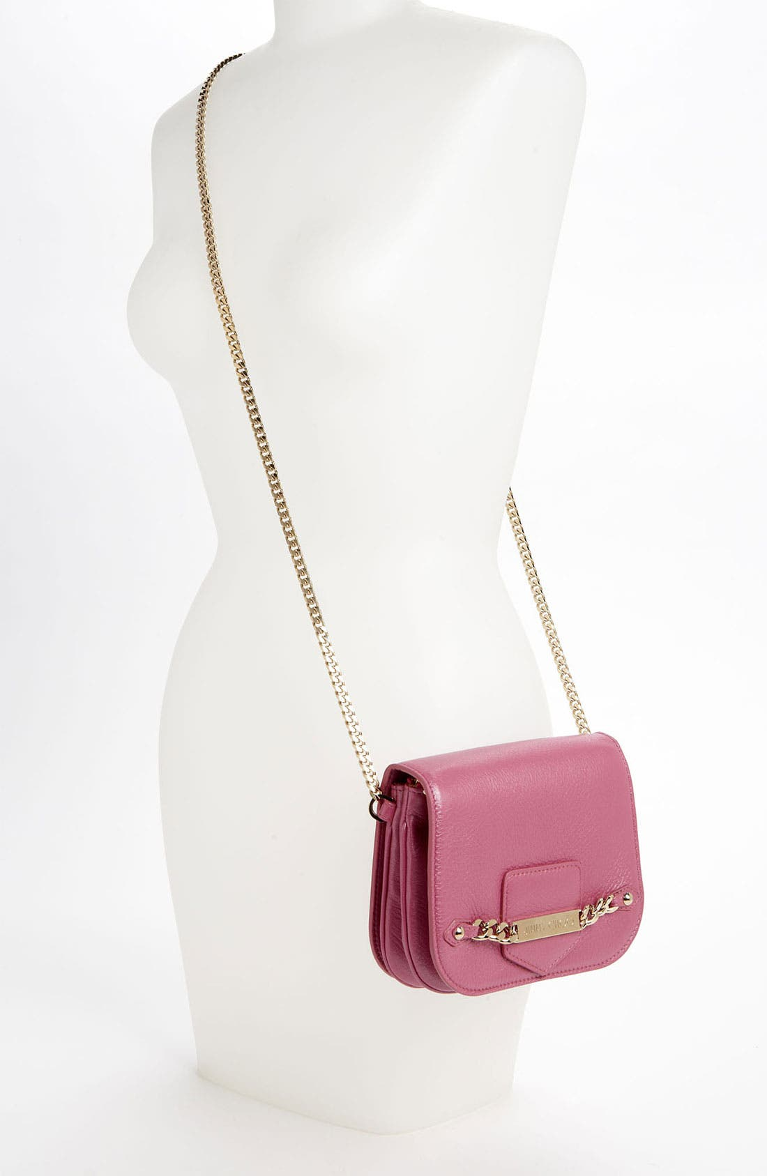 Alternate Image 2  - Jimmy Choo 'Shadow' Pearlized Leather Crossbody Bag