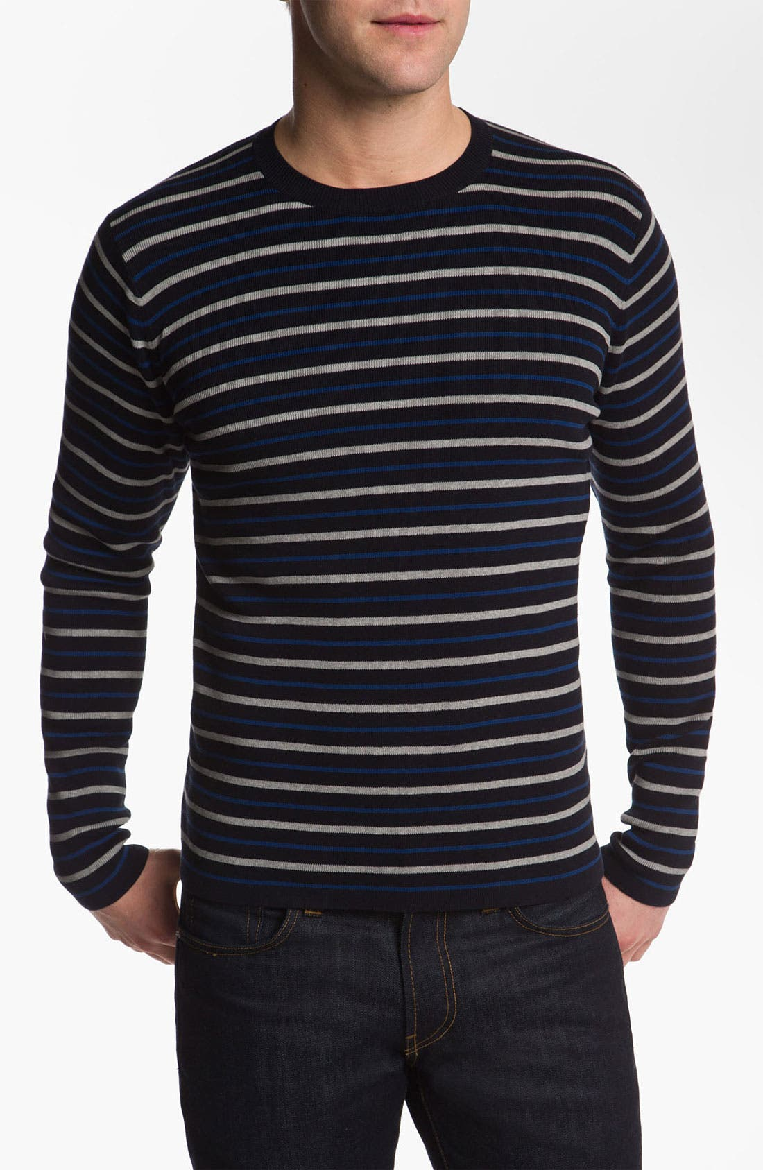 Alternate Image 1 Selected - Vince Stripe Crewneck Sweater