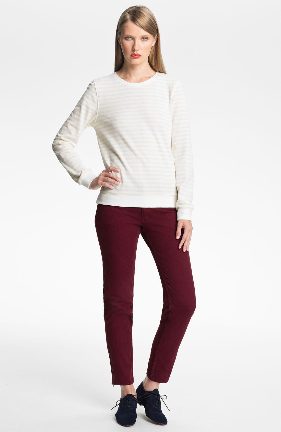Alternate Image 1 Selected - A.P.C. Stripe Sweatshirt