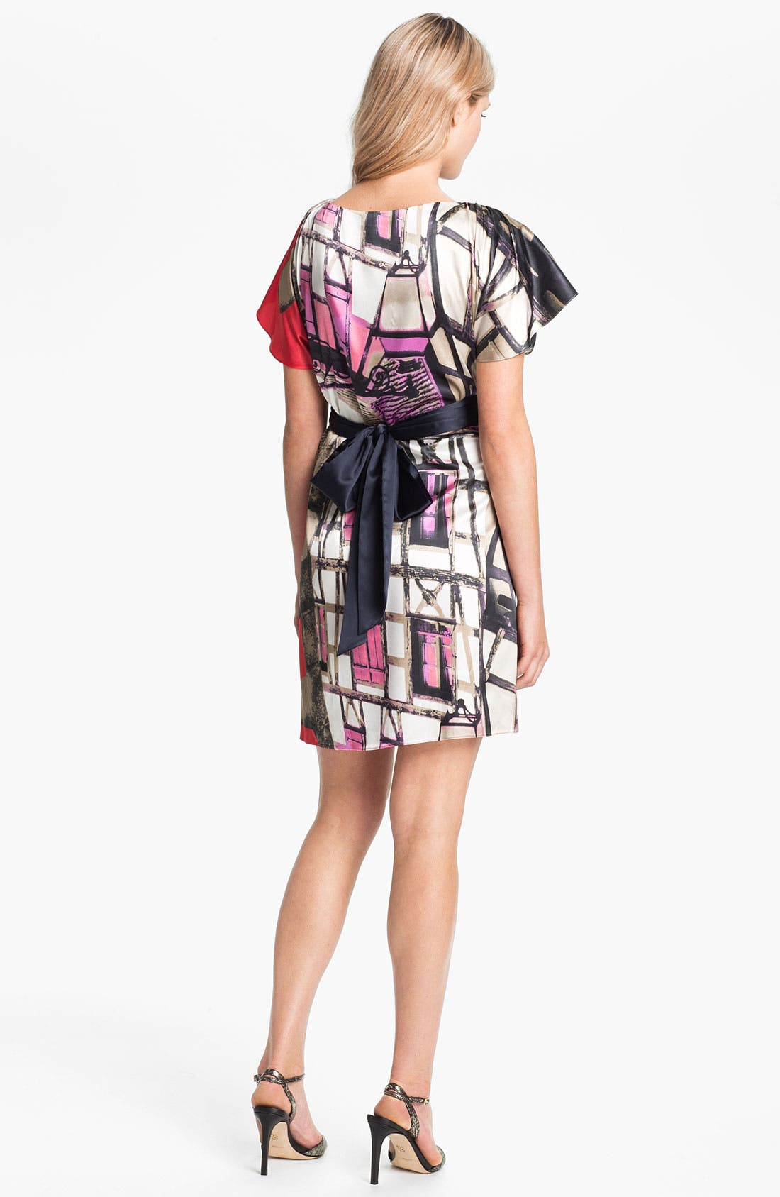 Alternate Image 2  - Suzi Chin for Maggy Boutique Print Charmeuse Dress