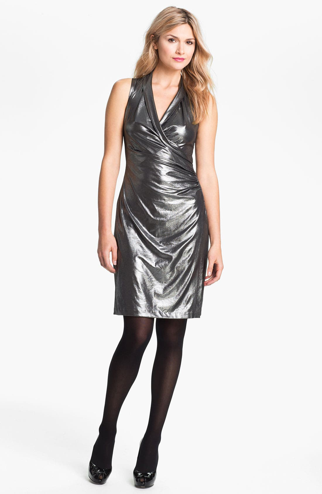 Alternate Image 1 Selected - KAMALIKULTURE Sleeveless Faux Wrap Dress