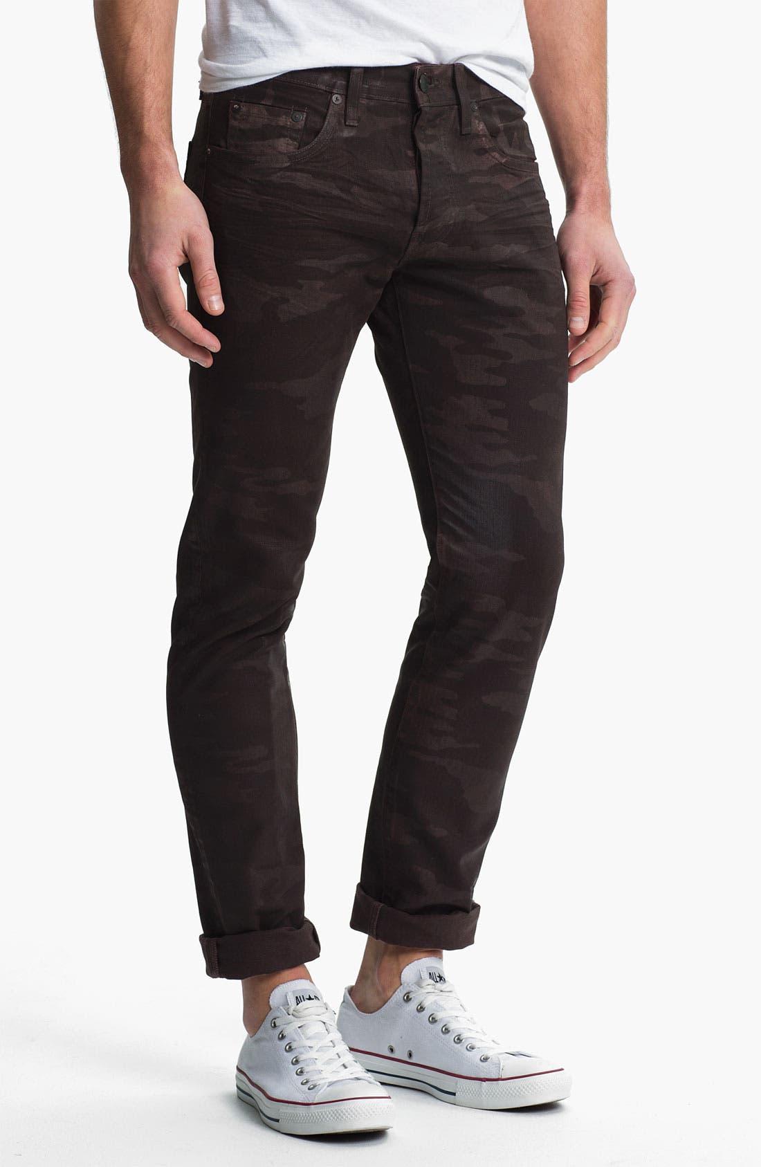 Alternate Image 2  - J Brand 'Tyler' Slim Straight Leg Jeans (Coated Wood Camo)
