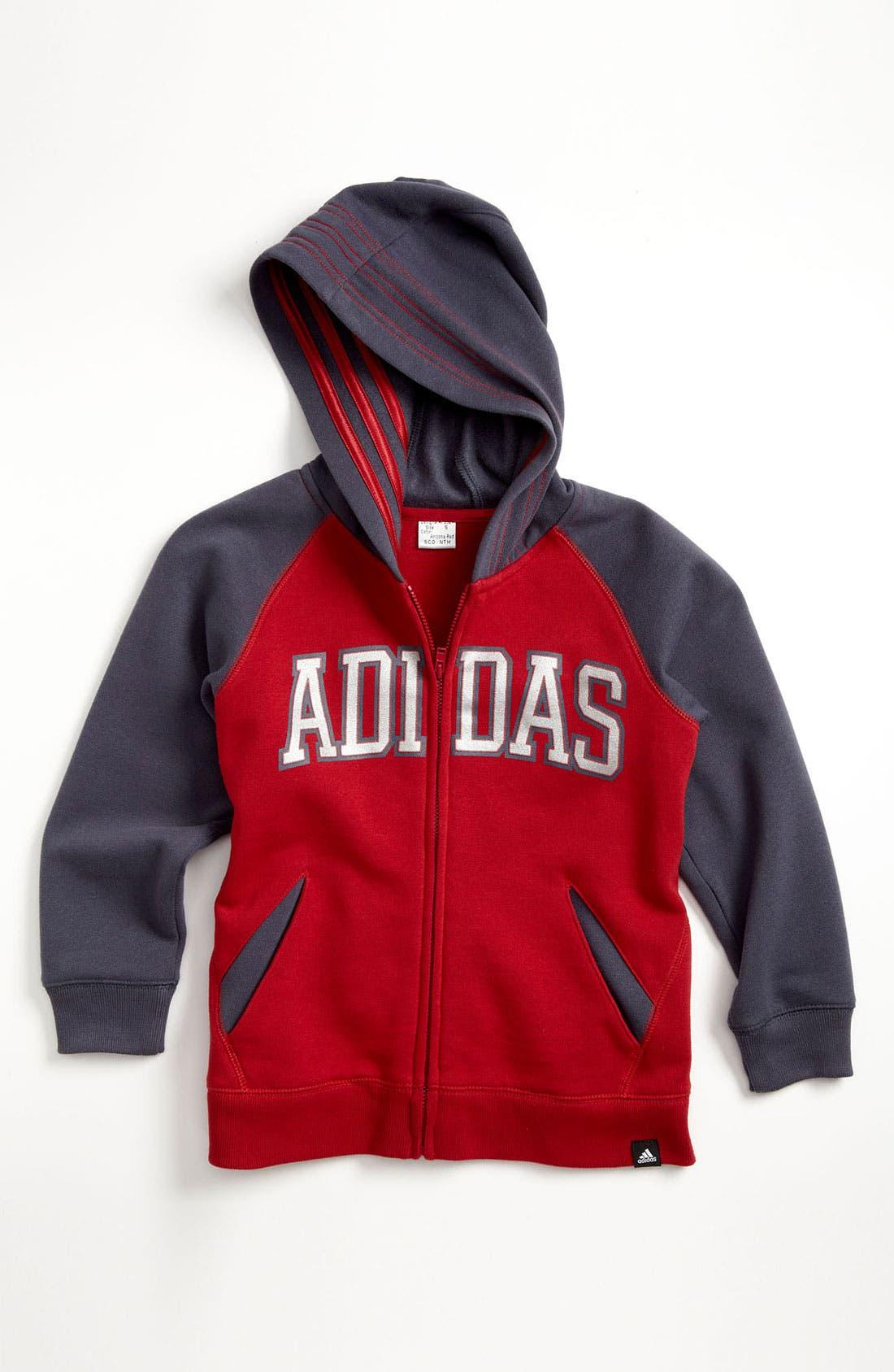 Alternate Image 1 Selected - adidas 'Adi' Hoodie (Little Boys)