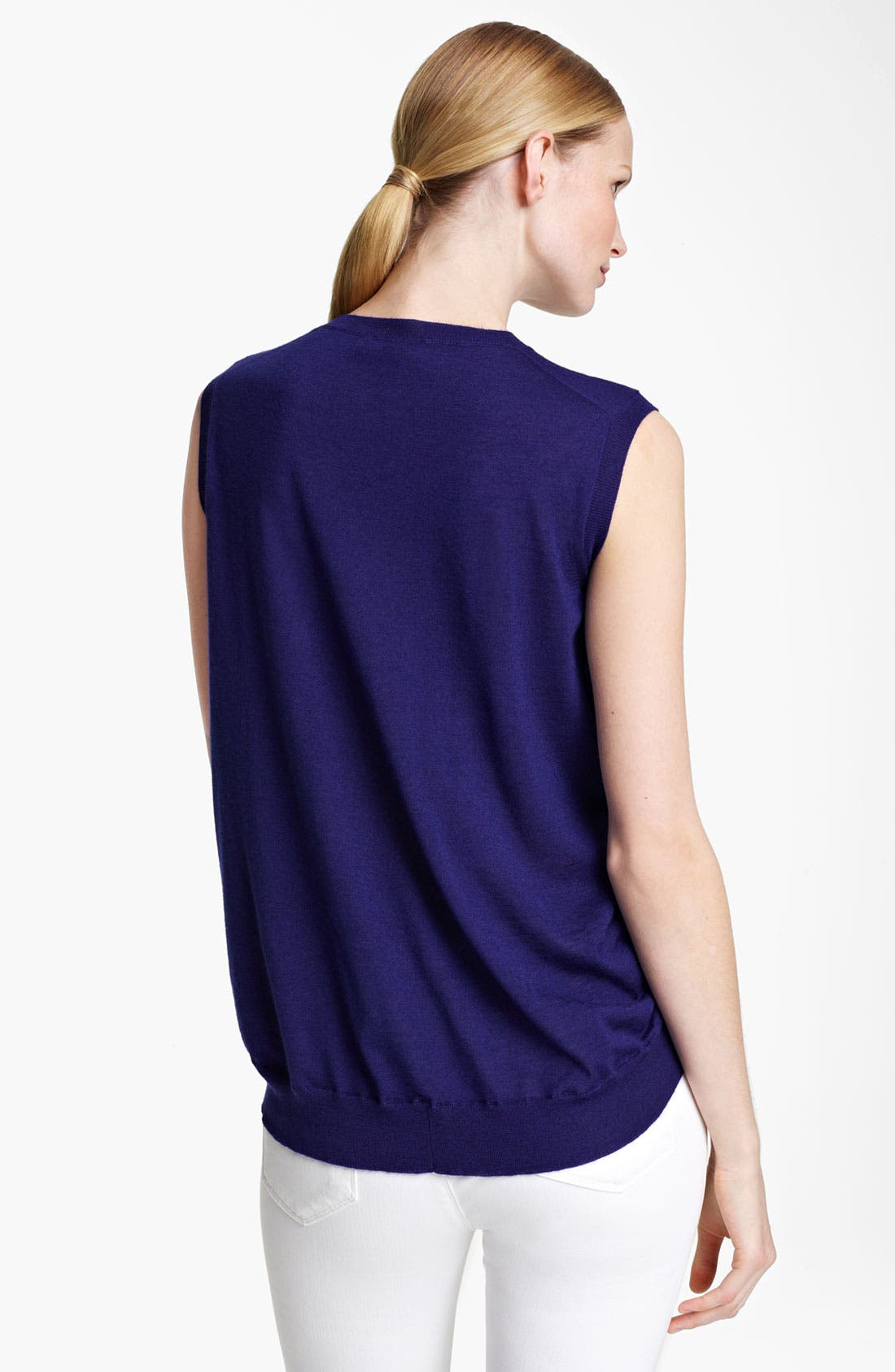 Alternate Image 2  - Jil Sander Sleeveless Cashmere & Silk Sweater