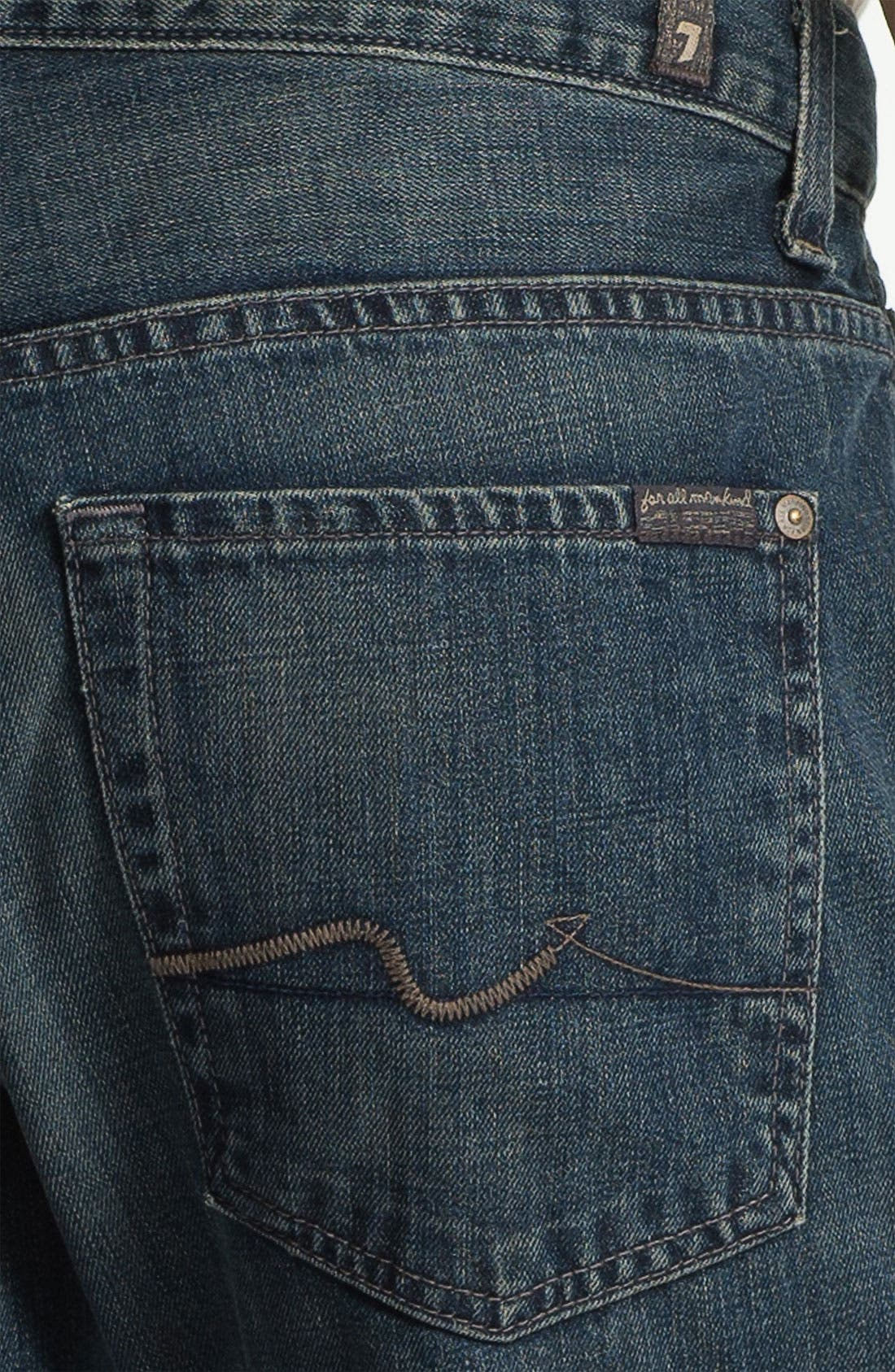 Alternate Image 4  - 7 For All Mankind® 'Brett' Bootcut Jeans (Baring Bay) (Online Exclusive)