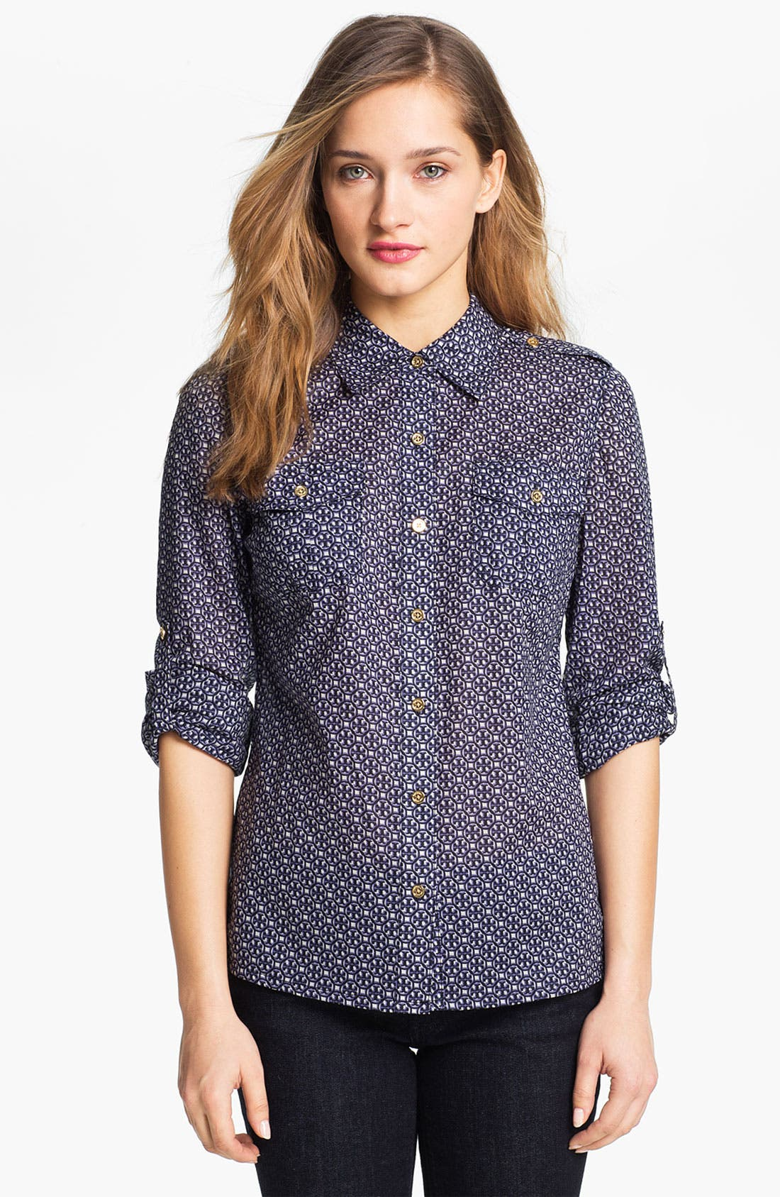 Alternate Image 1 Selected - Tory Burch 'Brigitte' Cotton Shirt