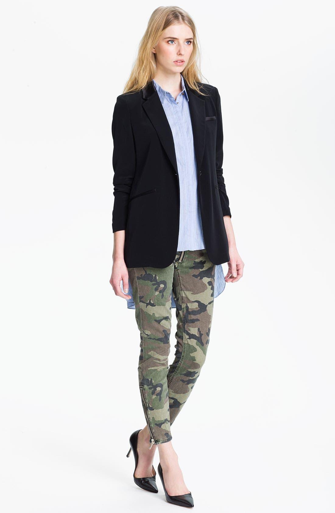 Alternate Image 4  - TEXTILE Elizabeth and James 'Cooper' Skinny Camo Print Jeans