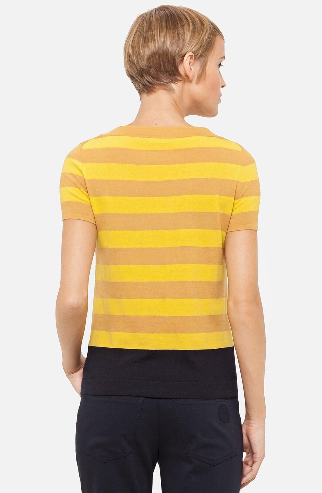 Alternate Image 2  - Akris punto Stripe Wool Sweater