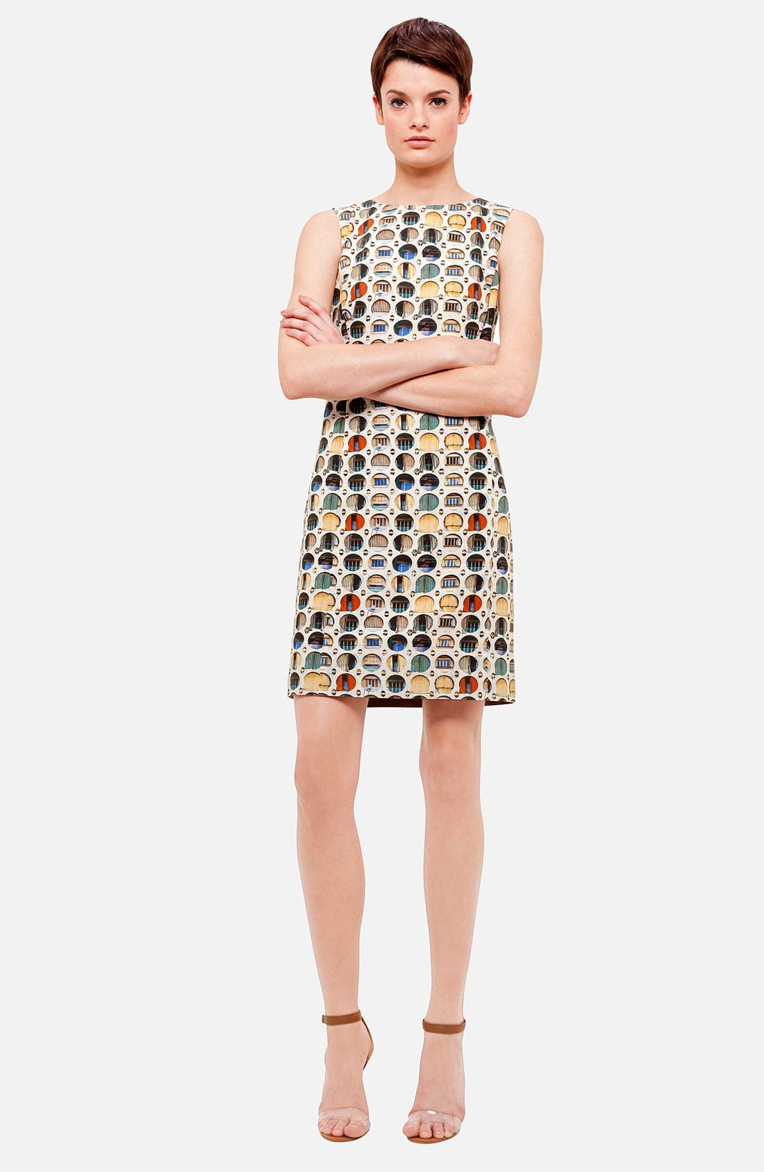 Main Image - Akris punto Façade Print Dress