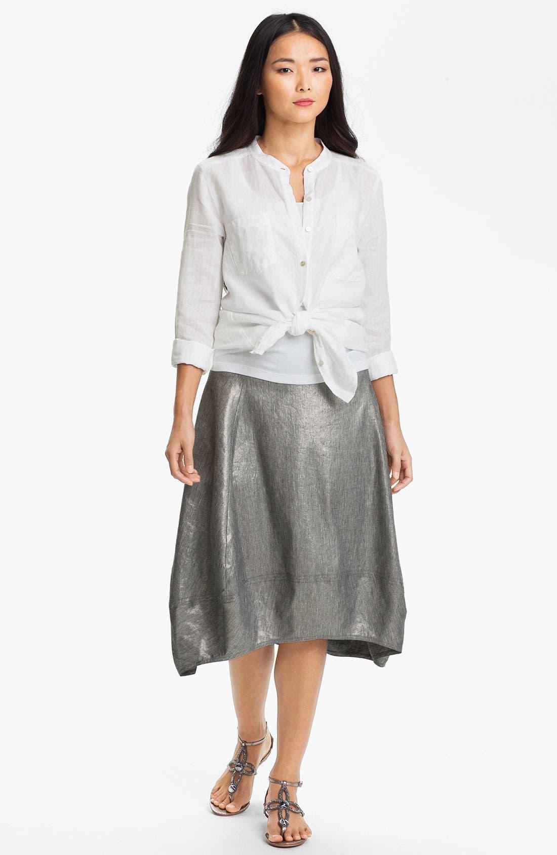 Alternate Image 4  - Eileen Fisher Stretch Linen Blend Lantern Skirt