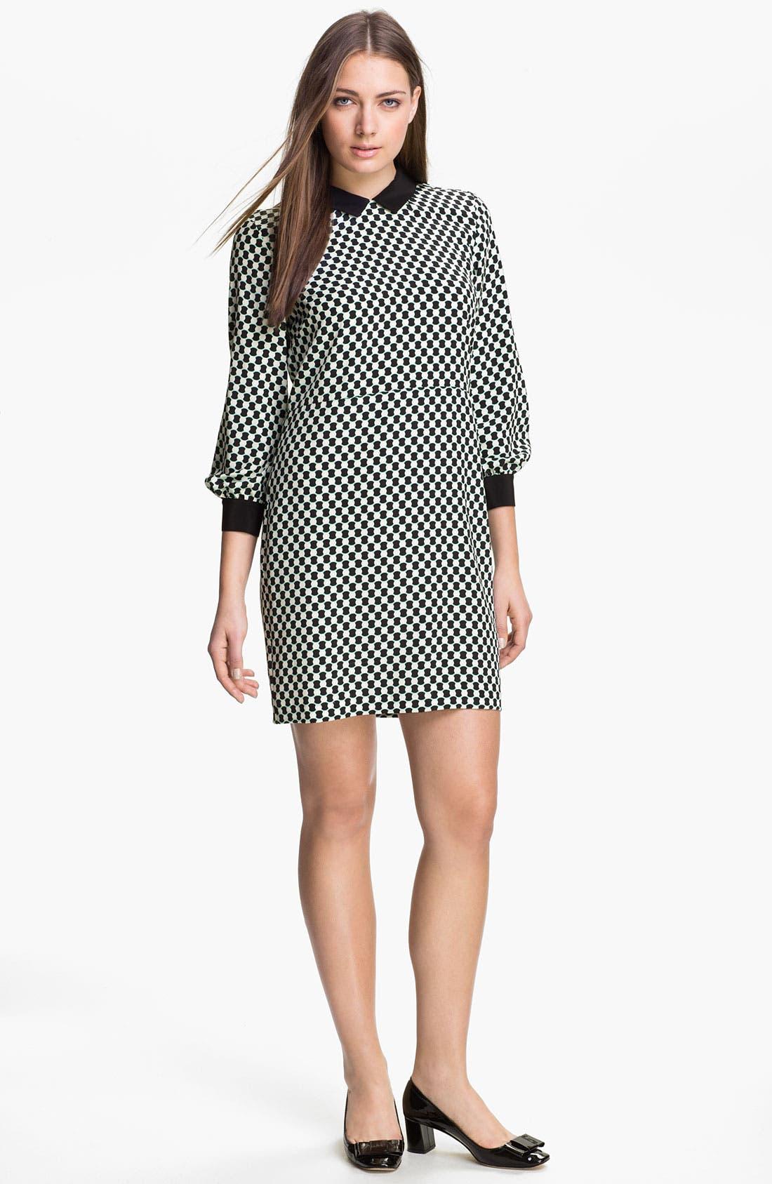 Alternate Image 1 Selected - kate spade new york 'finn' silk shift dress