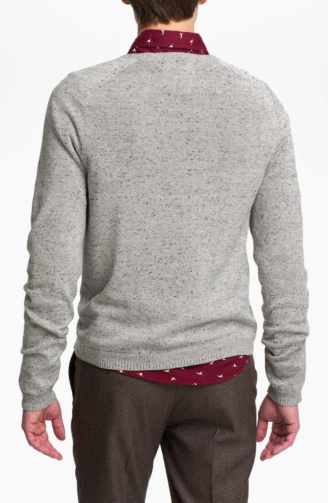 Alternate Image 2  - Topman Pocket Crewneck Sweater