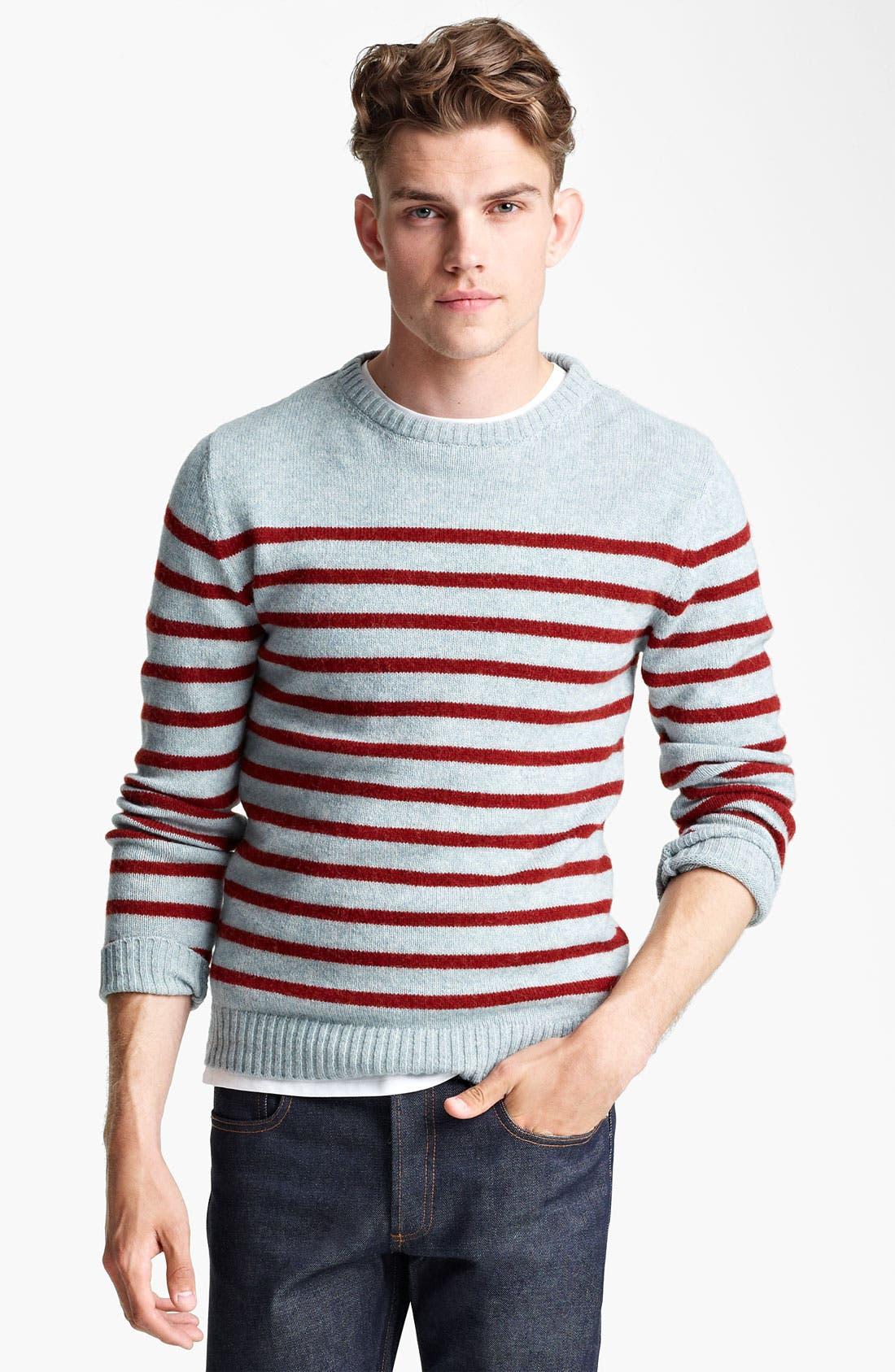 Alternate Image 1 Selected - A.P.C. Stripe Crewneck Sweater